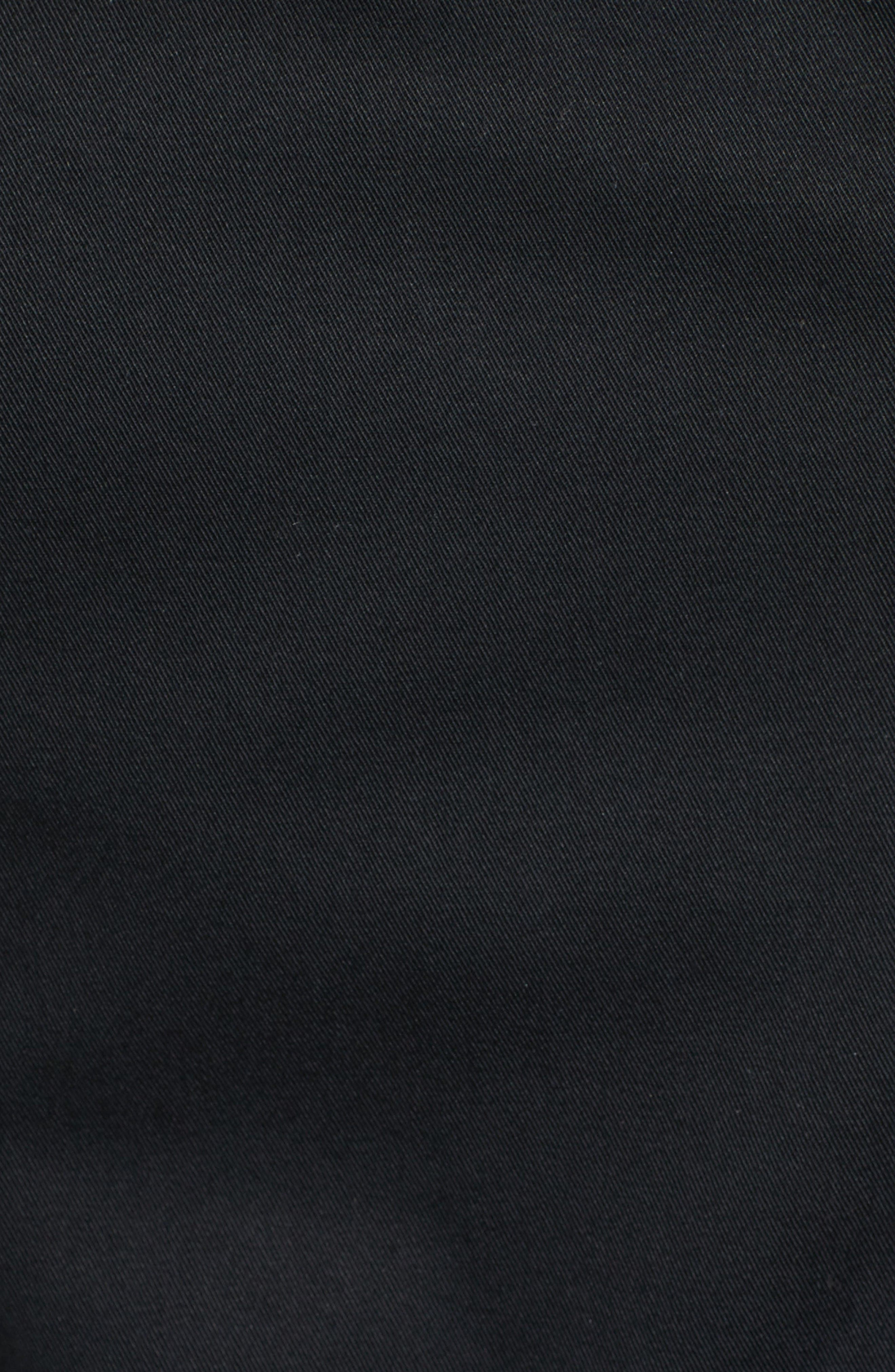 Estela Belted Long Trench Coat,                             Alternate thumbnail 5, color,                             Black