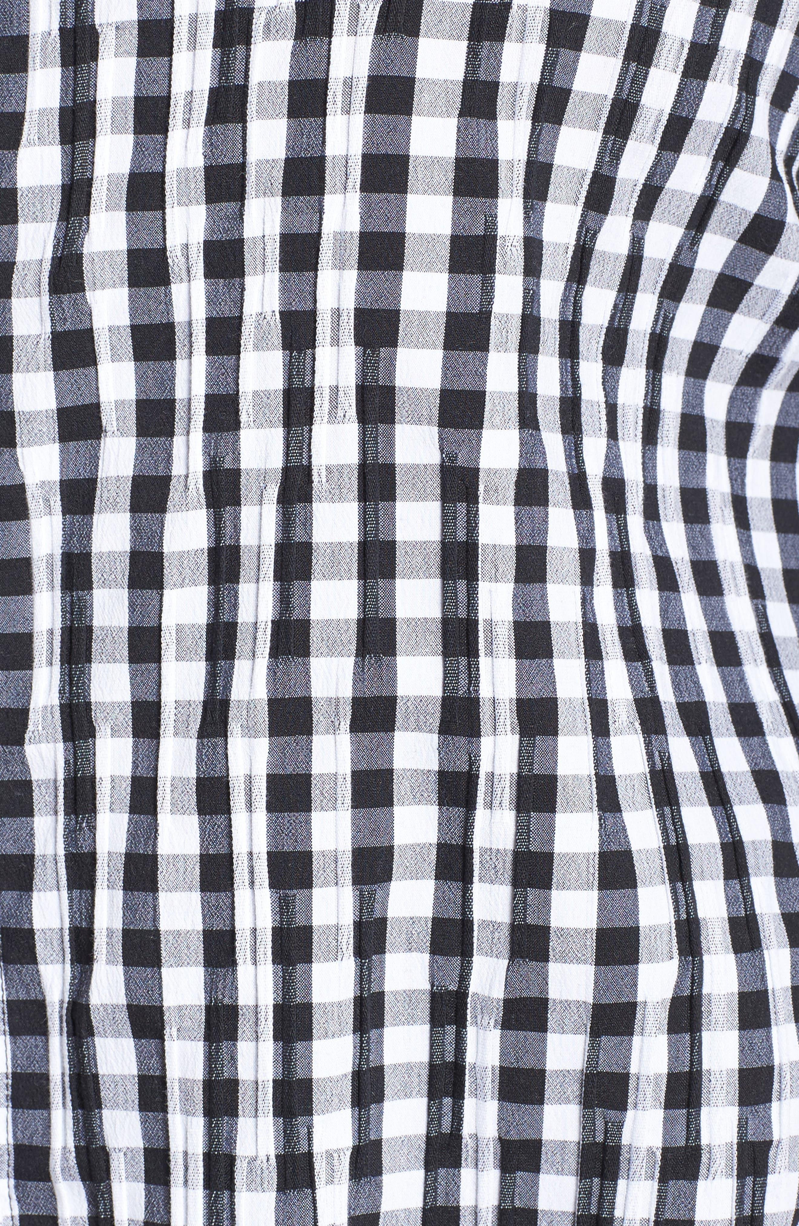 Alternate Image 5  - Foxcroft Gingham Shirt (Plus Size)