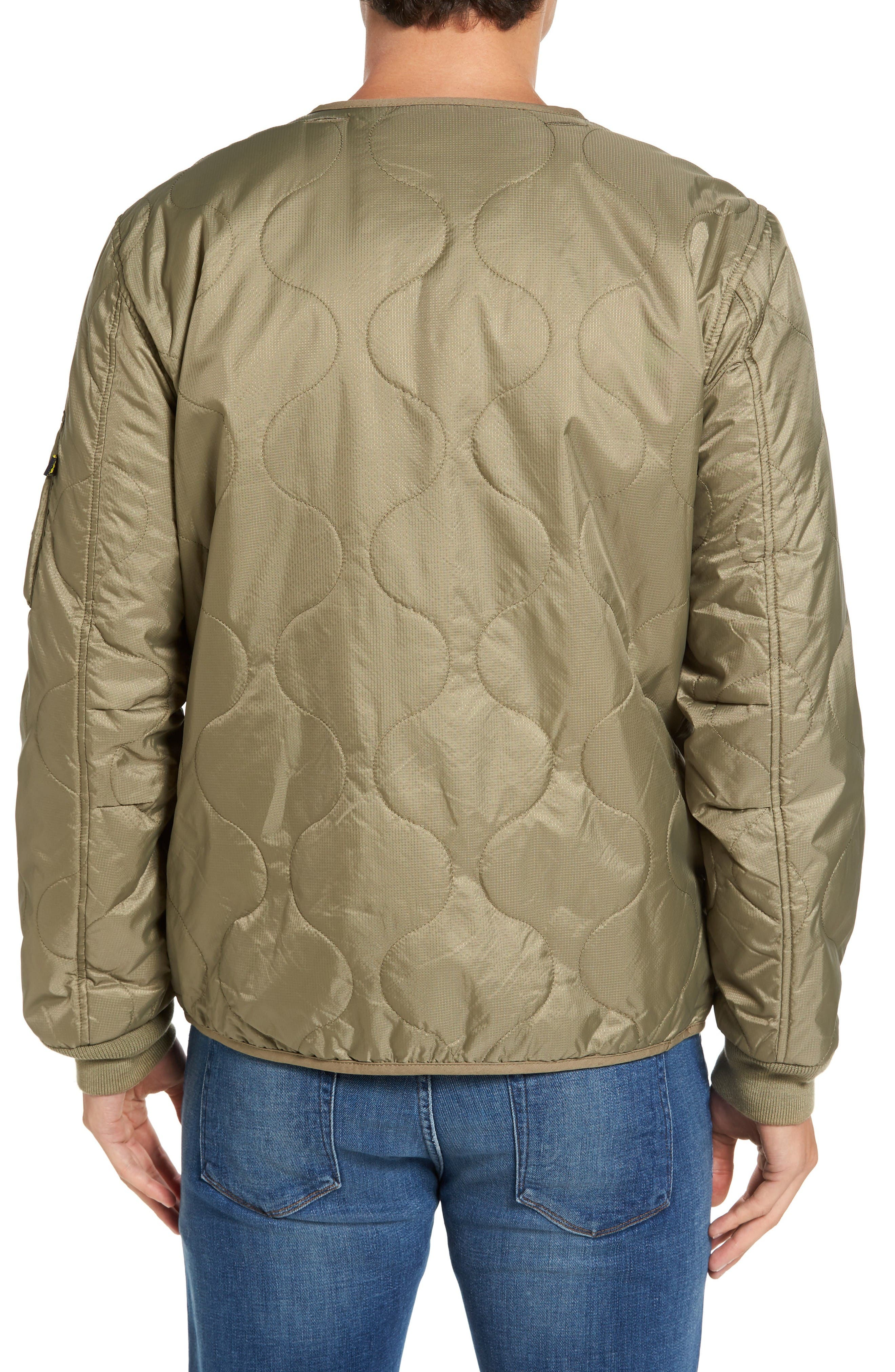 Pioneer Quilted Bomber Jacket,                             Alternate thumbnail 2, color,                             Sage
