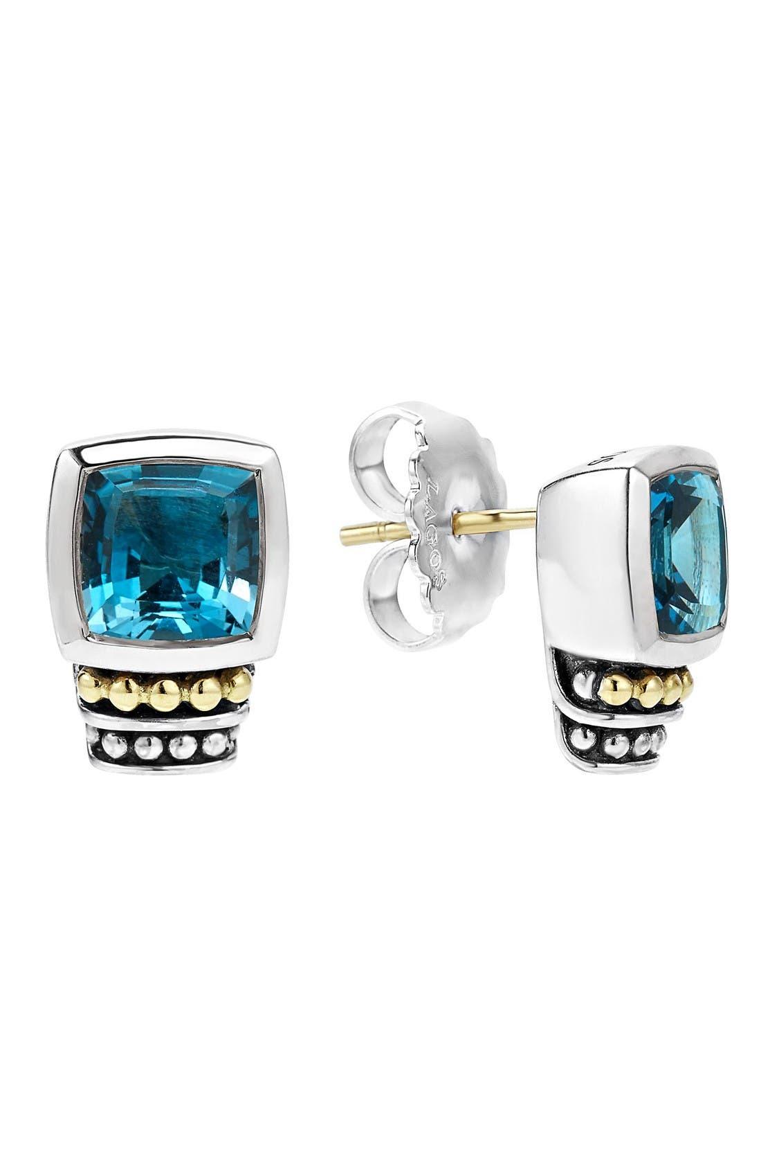 LAGOS Caviar Color Semiprecious Stone Stud Earrings