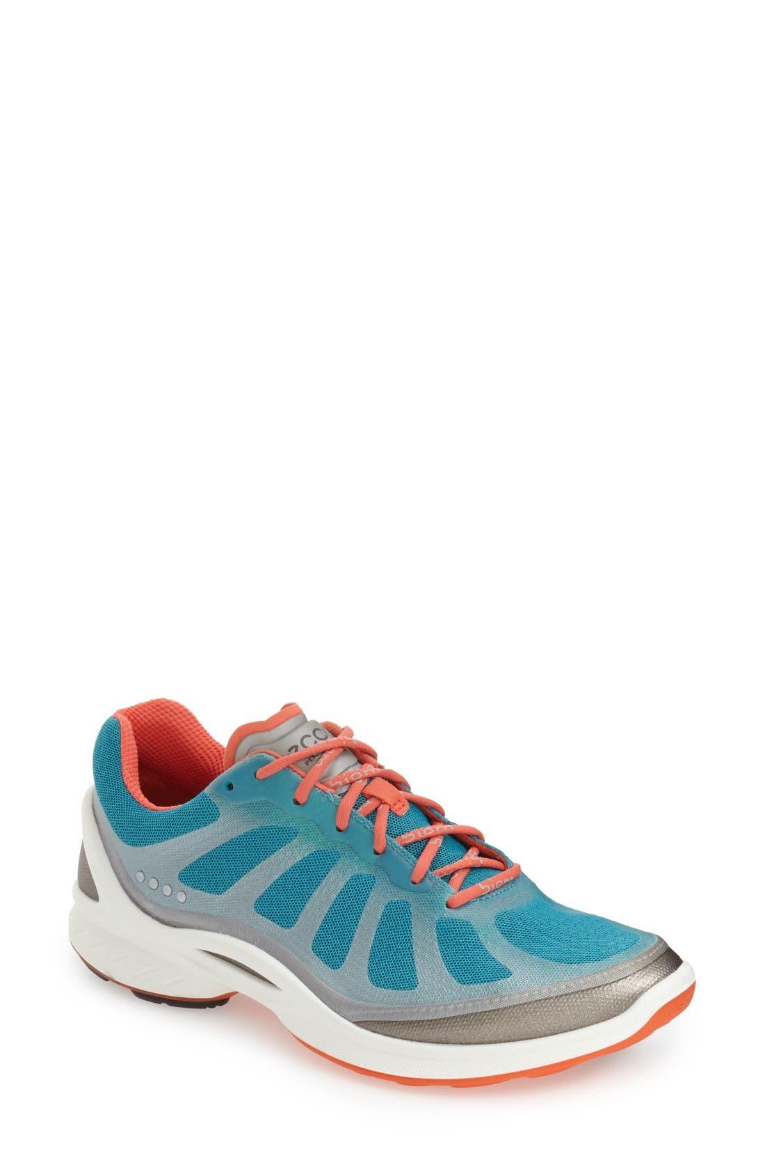 'BIOM Fjuel Racer' Sneaker,                             Main thumbnail 1, color,                             Capri Breeze / Coral