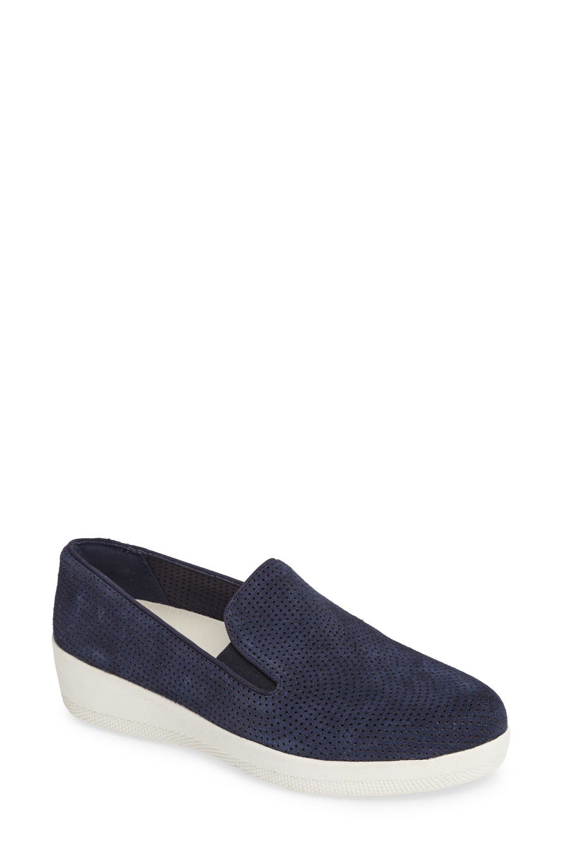 Superskate Slip-On Sneaker,                             Main thumbnail 1, color,                             Midnight Navy/ Navy Suede
