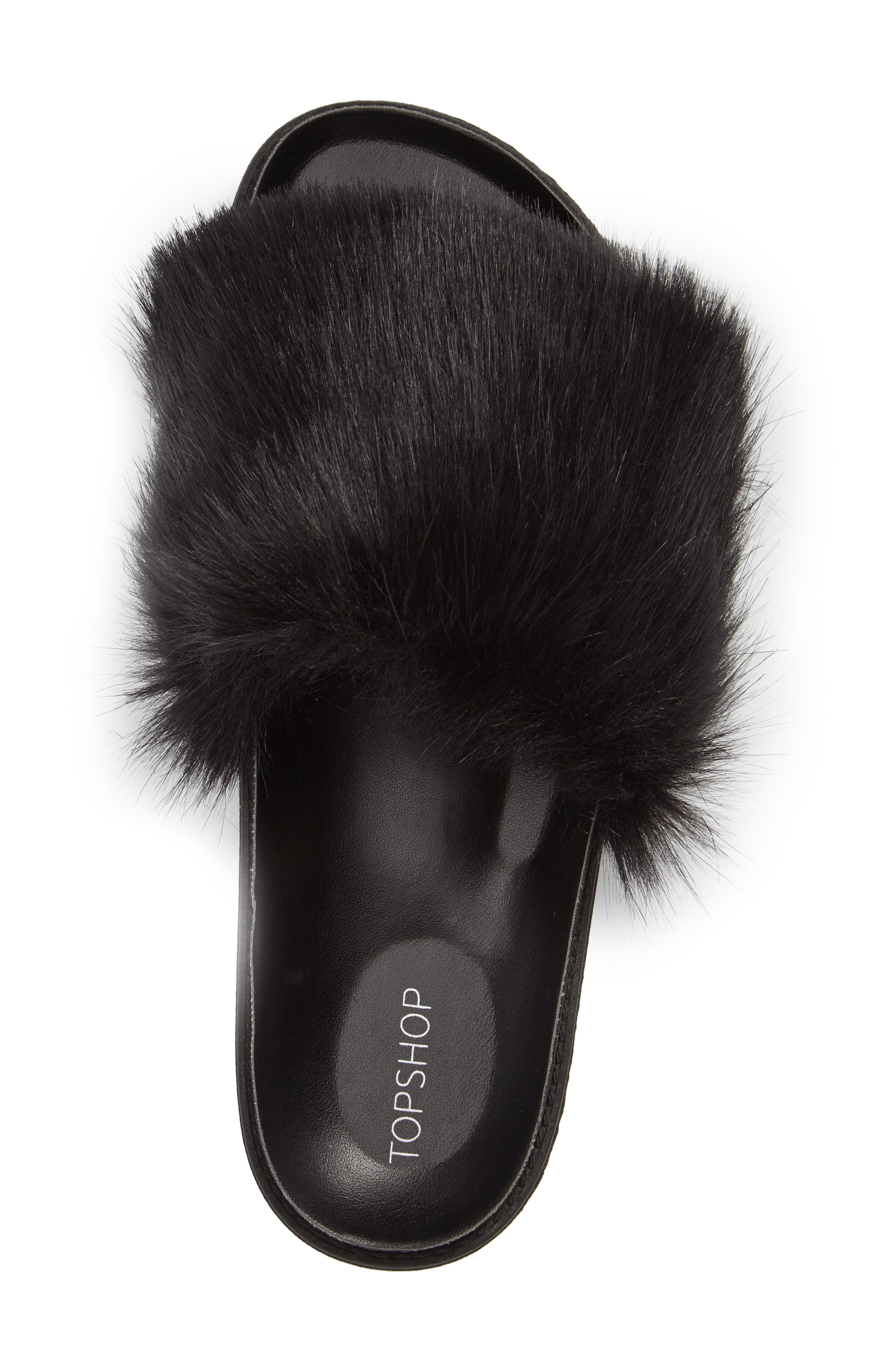 Alternate Image 3  - Topshop Faux Fur Slide Sandal (Women)