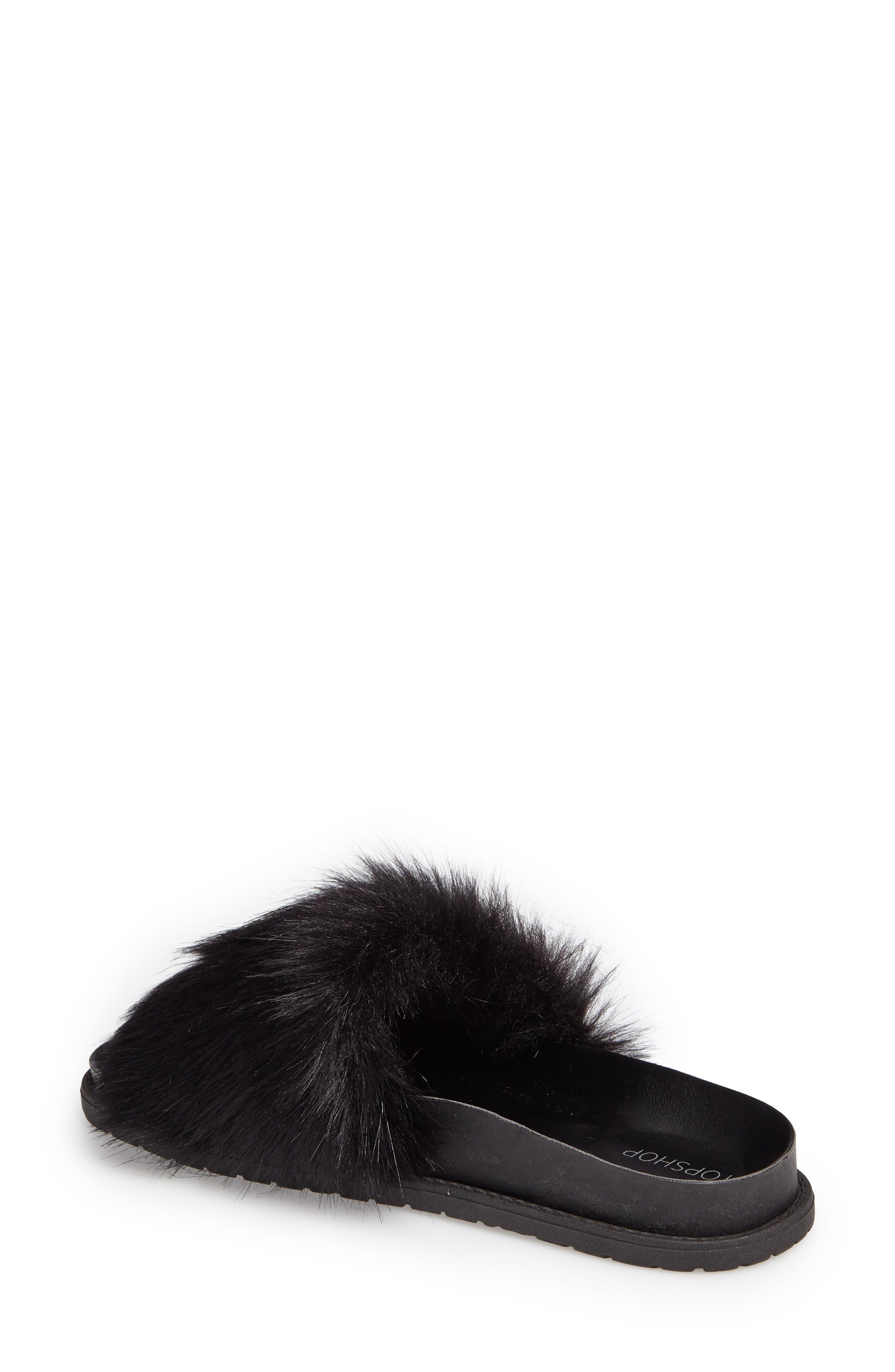 Alternate Image 2  - Topshop Faux Fur Slide Sandal (Women)
