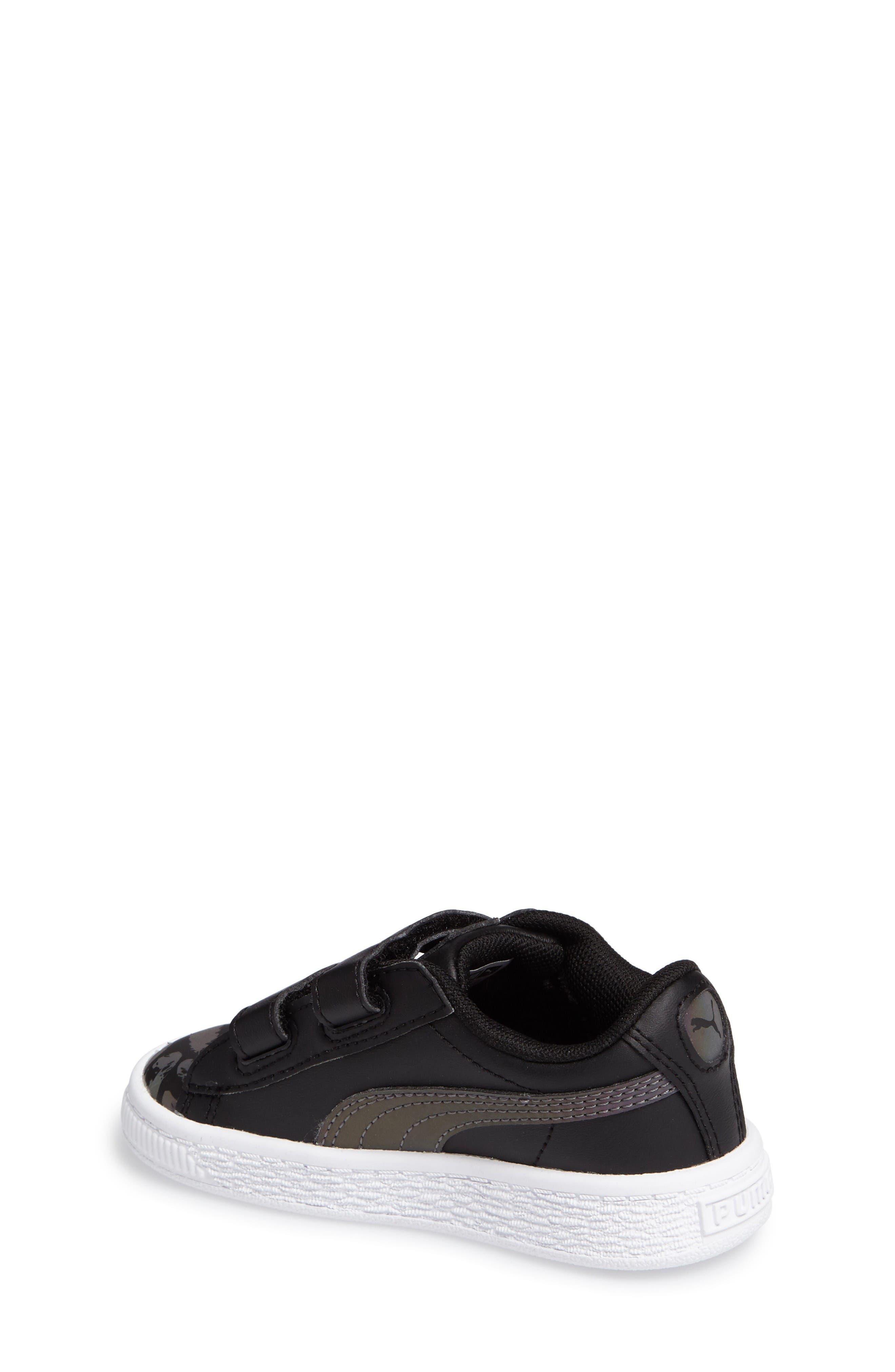 Basket Swan Feather Print Sneaker,                             Alternate thumbnail 2, color,                             Black