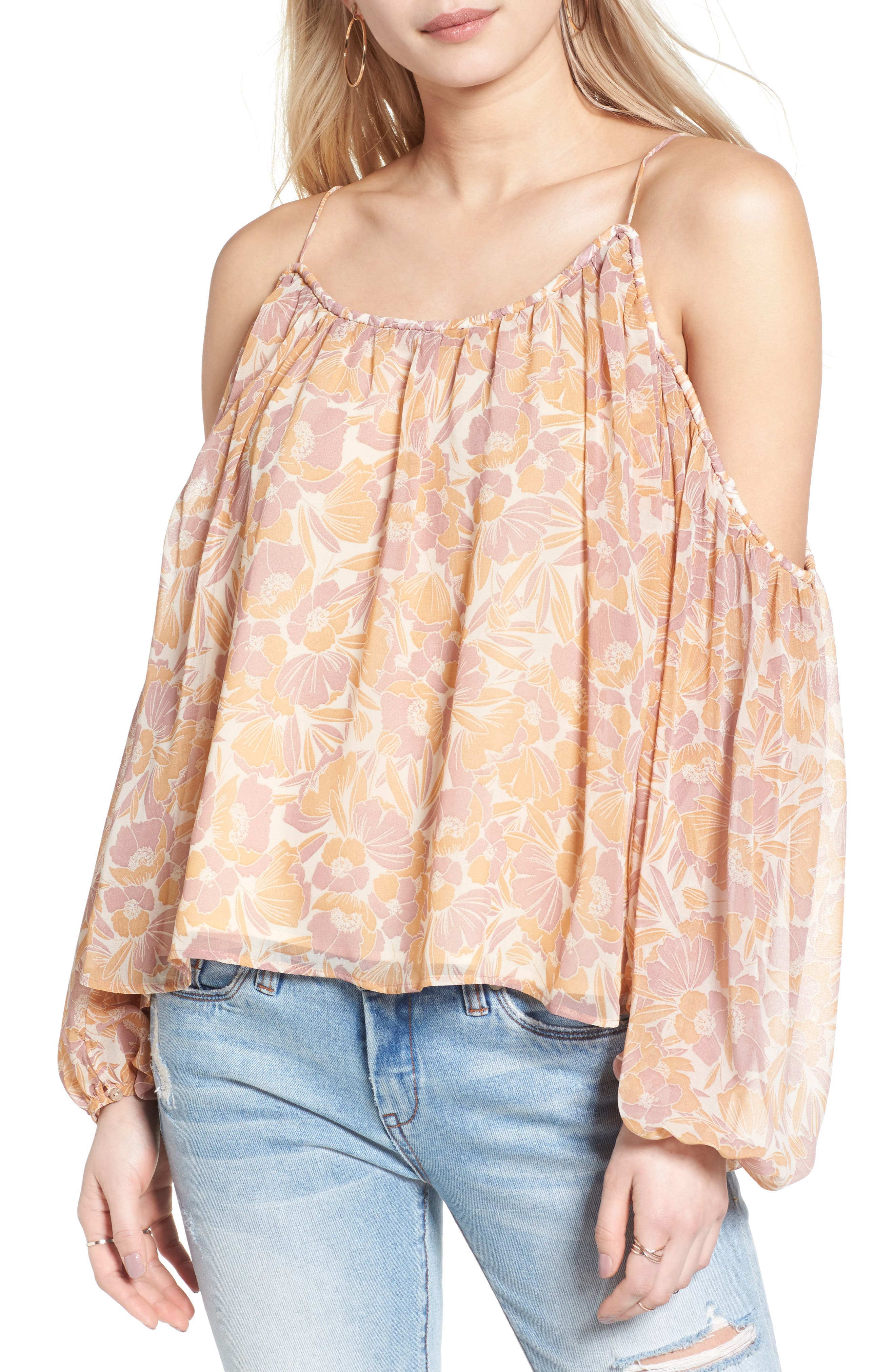 Main Image - ASTR the Label Josephine Cold Shoulder Top