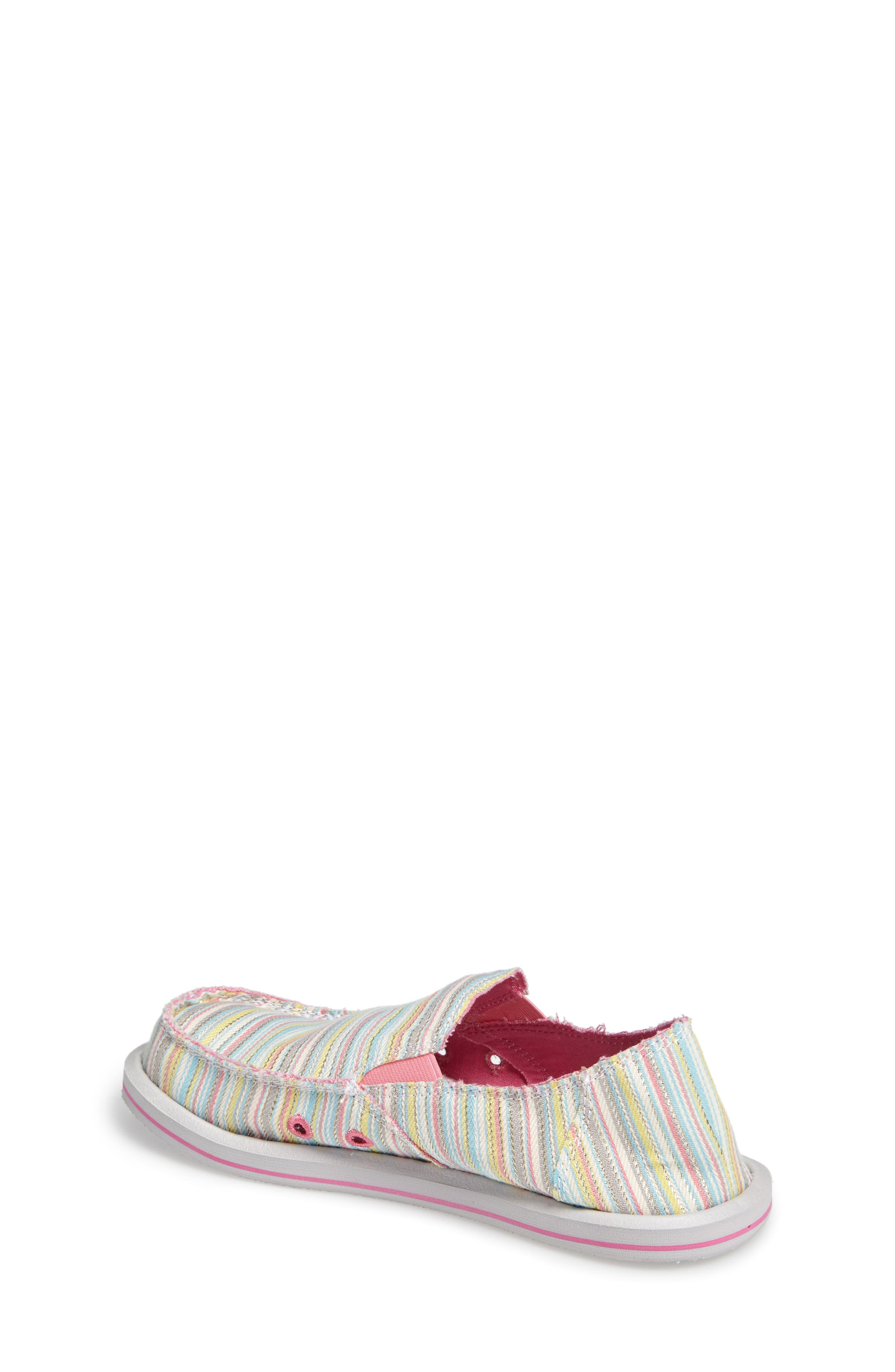 'Donna - Poncho' Vegan Slip-On,                             Alternate thumbnail 2, color,                             Aqua/ Pink Pinstripe