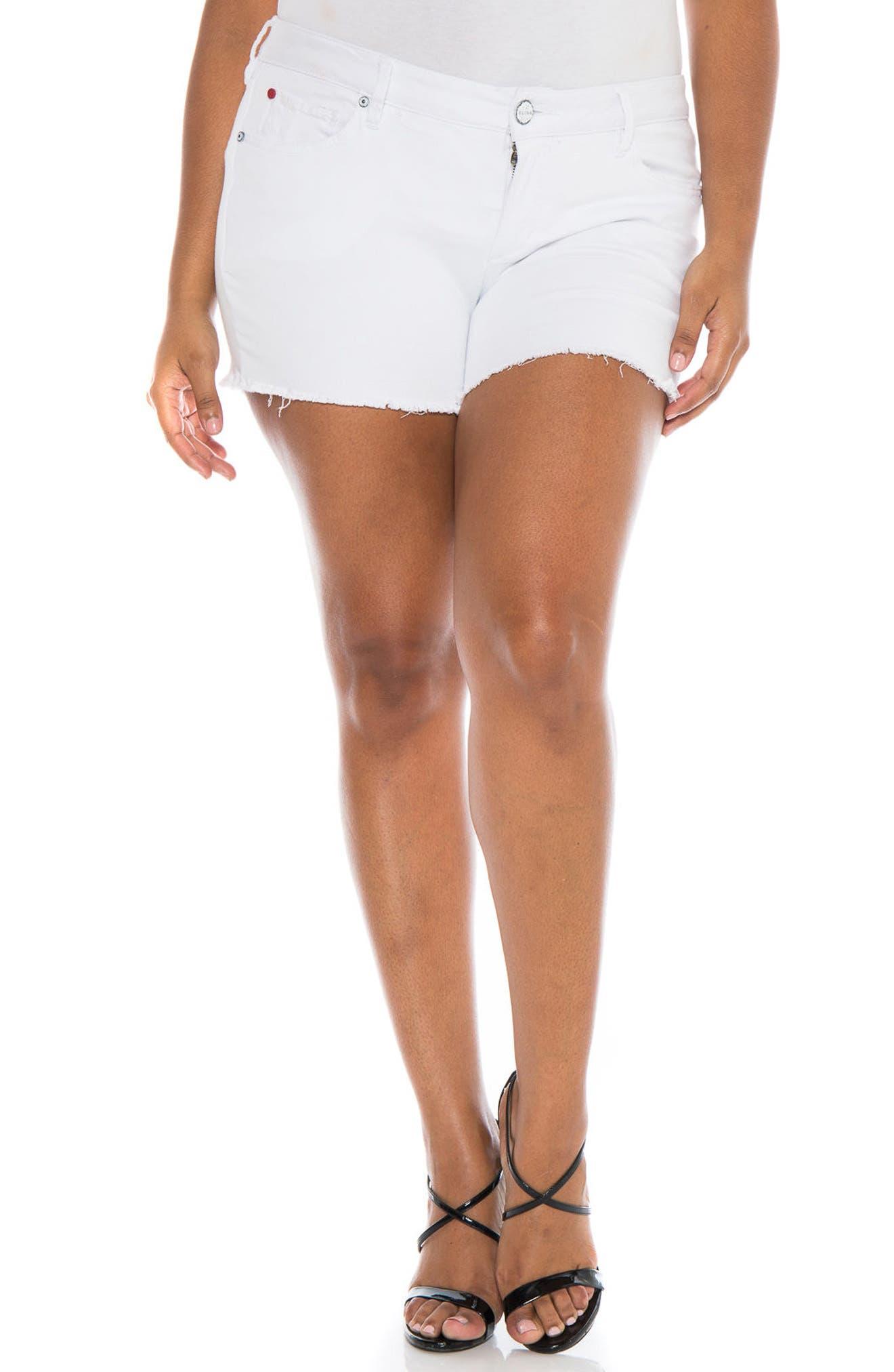 Cutoff Denim Shorts,                             Main thumbnail 1, color,                             Lexy
