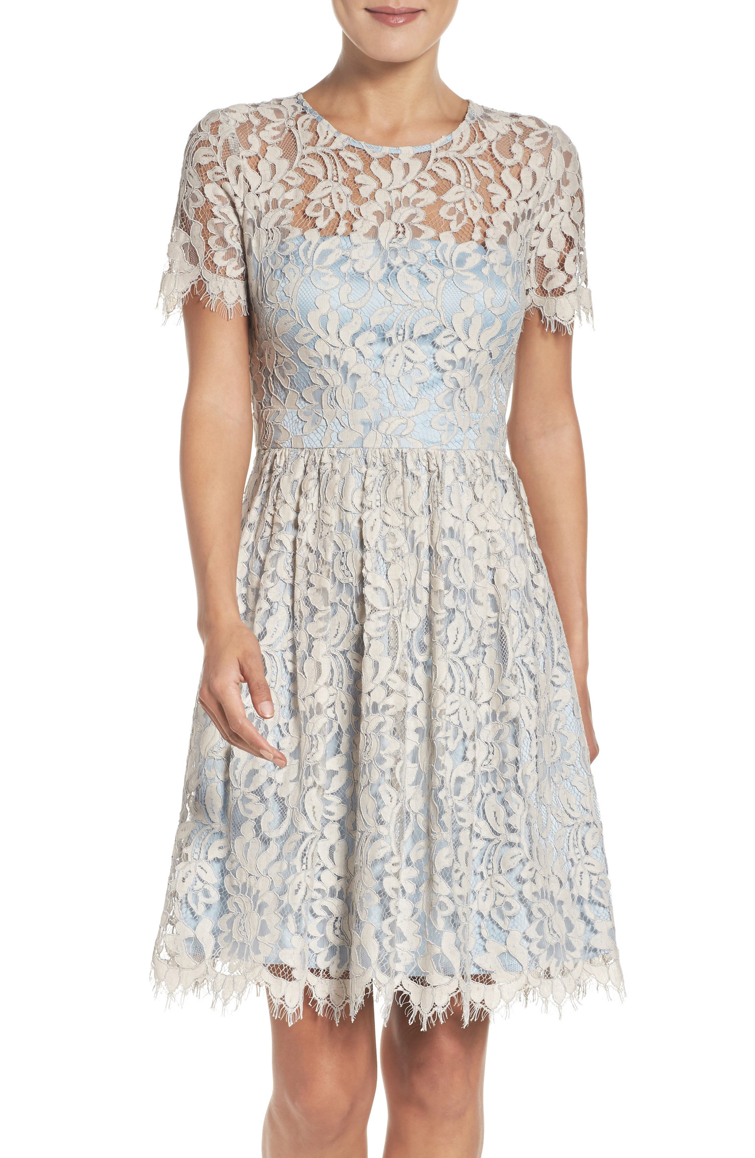 Main Image - Eliza J Fit & Flare Dress