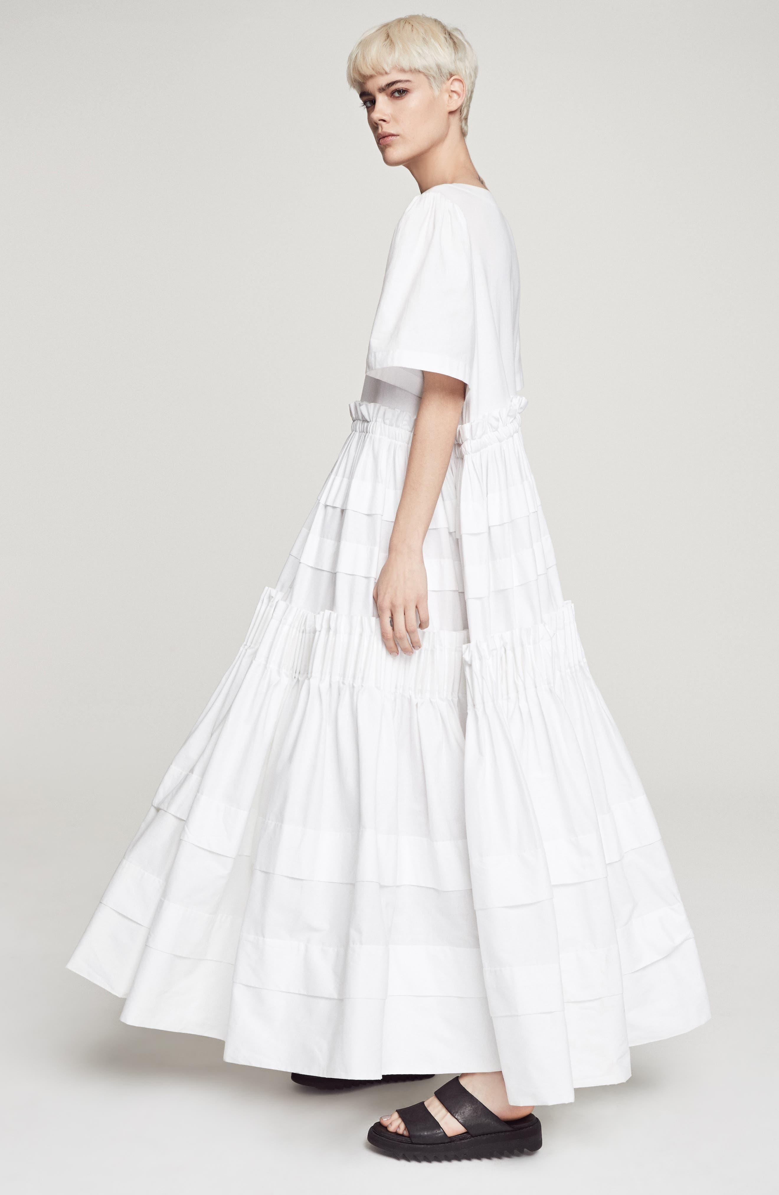 Mathilda Maxi Dress,                             Alternate thumbnail 10, color,                             White