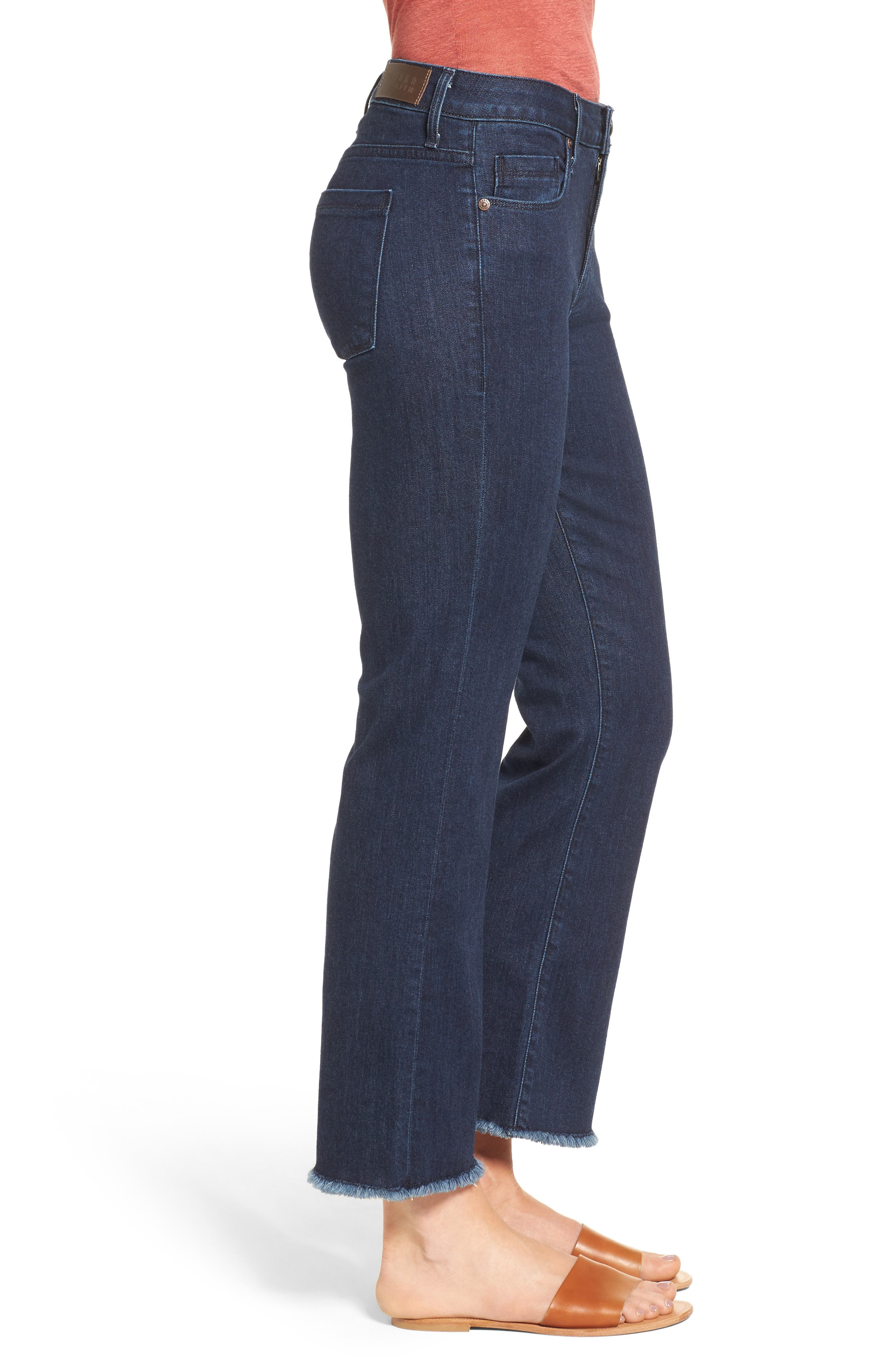 Alternate Image 4  - PARKER SMITH Brynna Crop Flare Jeans (Baltic)