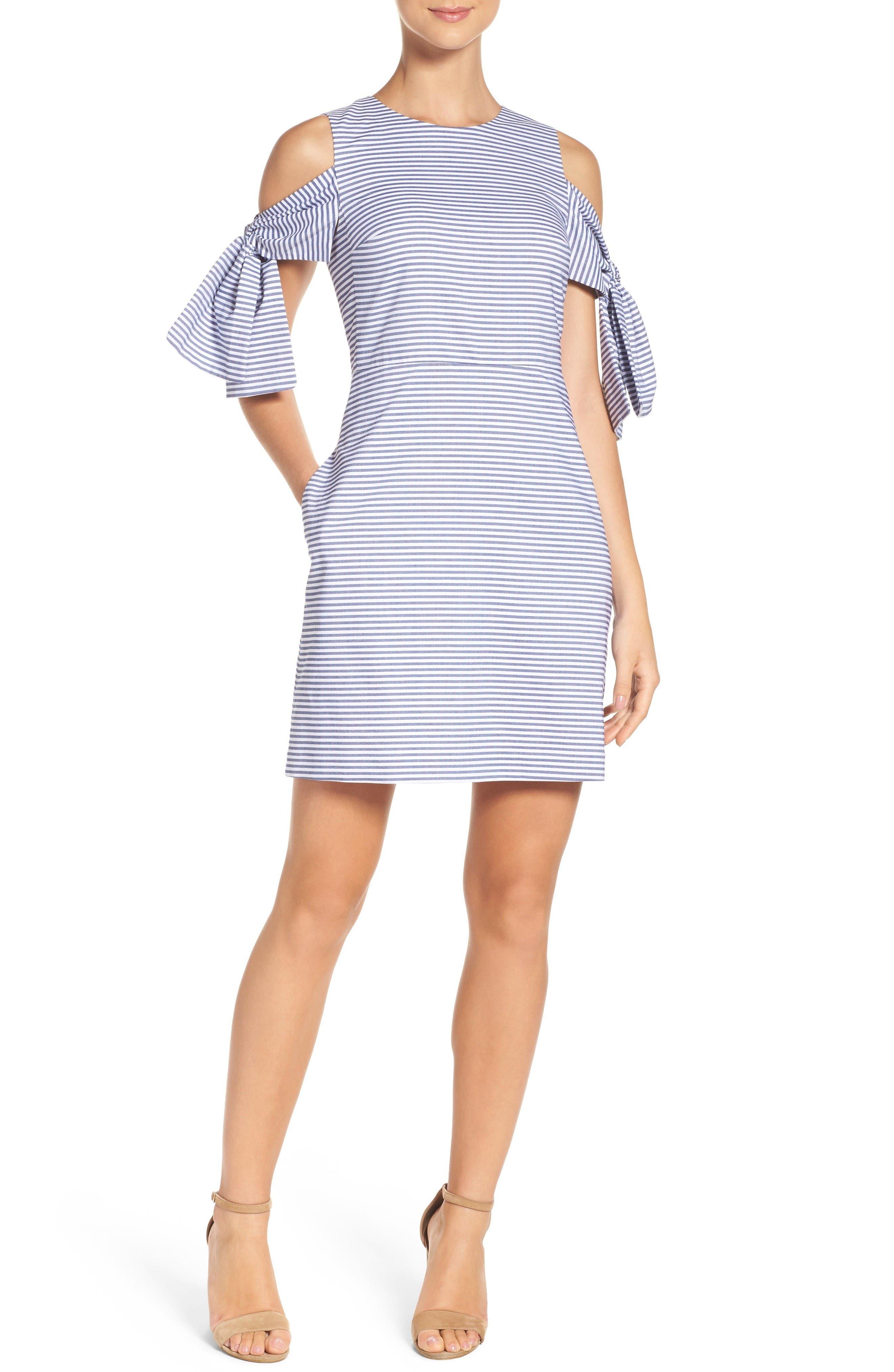 Alternate Image 4  - Chelsea28 Cold Shoulder Shift Dress