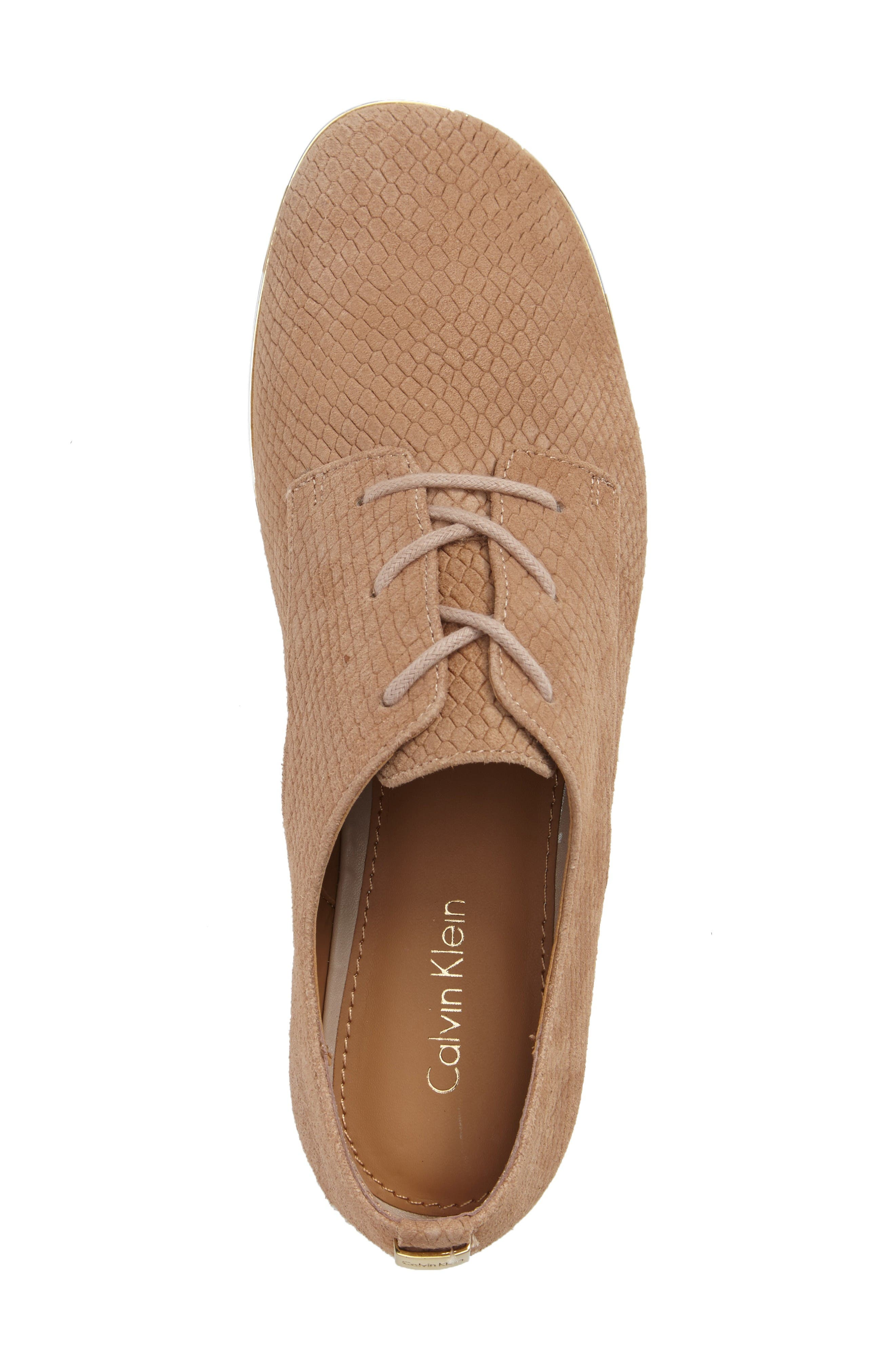 Cory Textured Oxford,                             Alternate thumbnail 3, color,                             Cocoon/ Warm Gold Nubuck