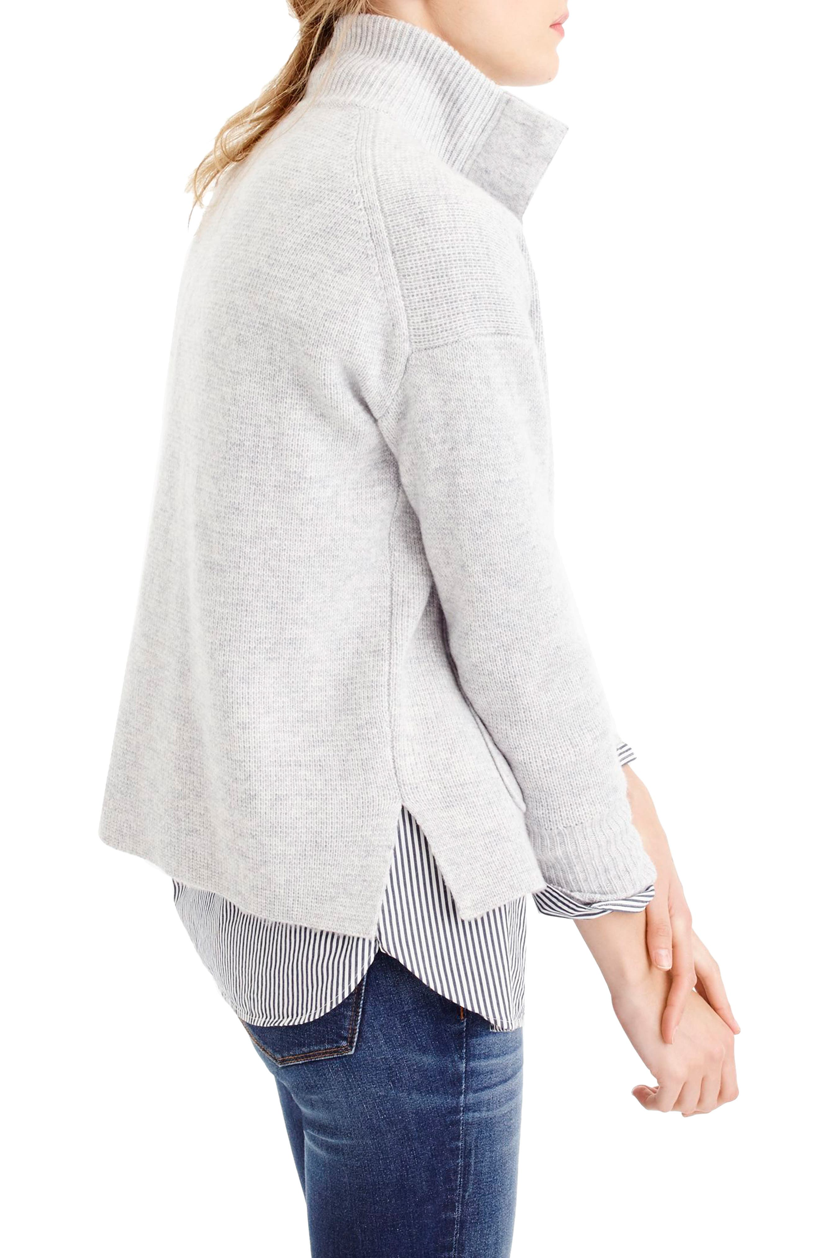 Alternate Image 2  - J.Crew Snap Placket Pullover Sweater