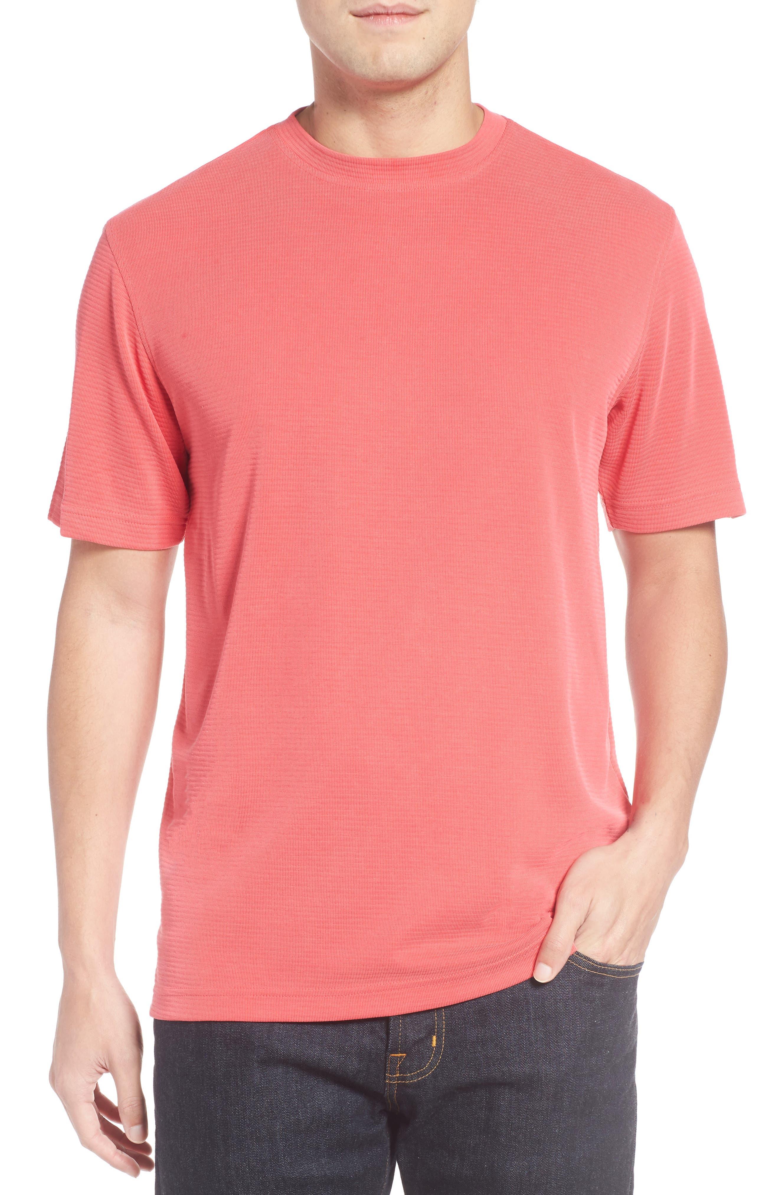 Crewneck T-Shirt,                         Main,                         color, Cherry