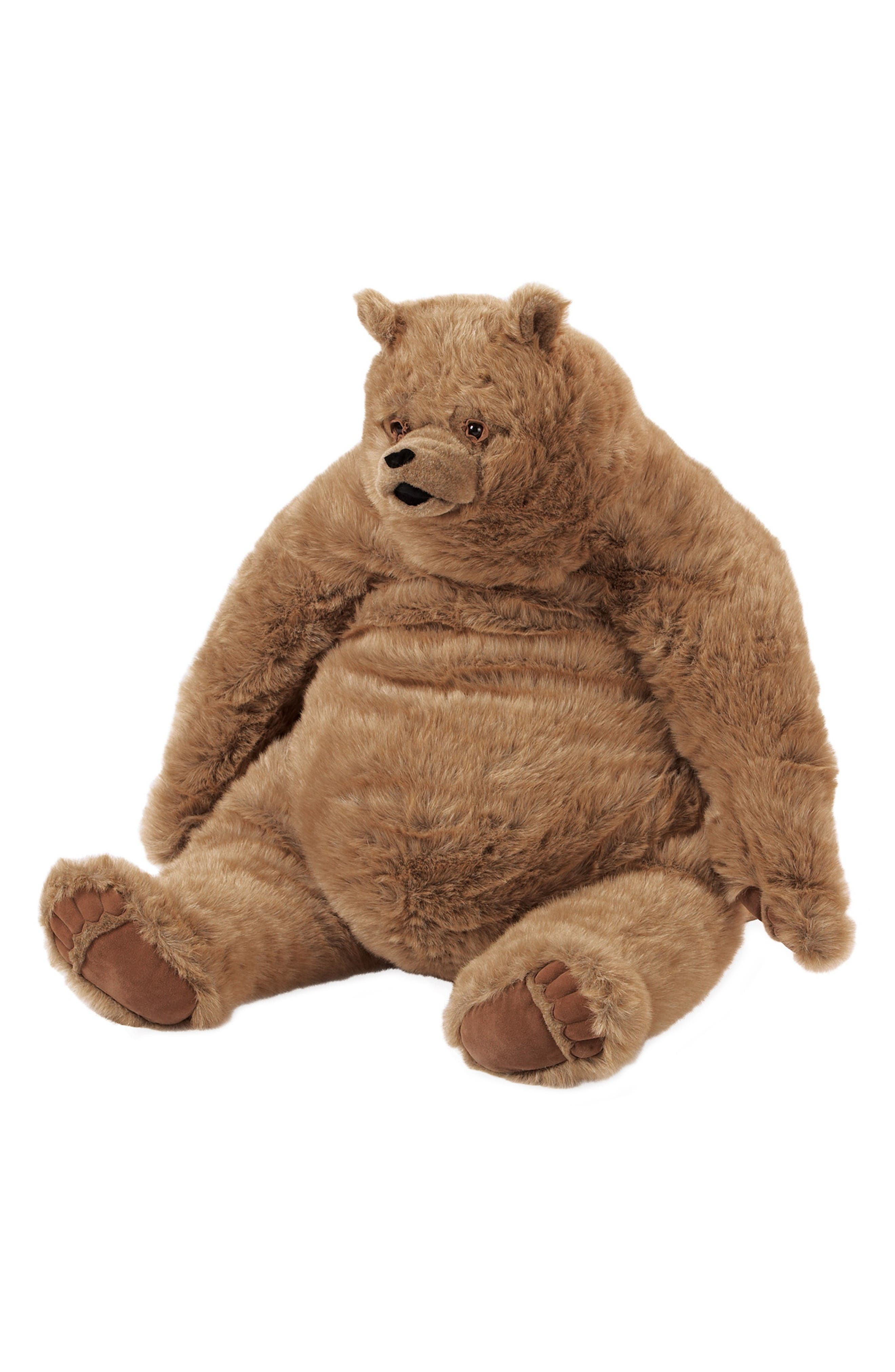 Jumbo Kodiak Bear Stuffed Animal,                         Main,                         color, Brown