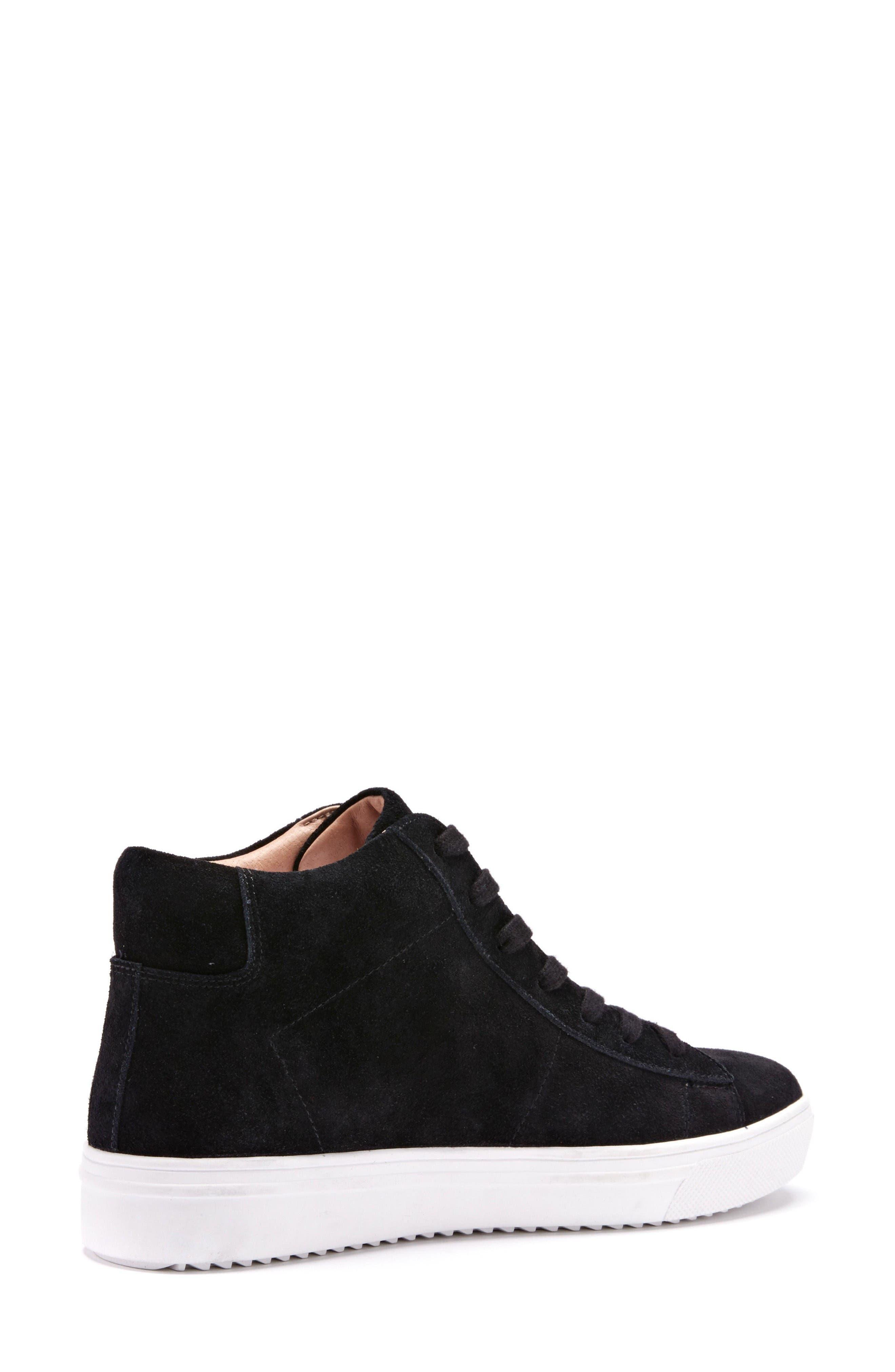 Jax Waterproof High Top Sneaker,                             Alternate thumbnail 2, color,                             Black Suede