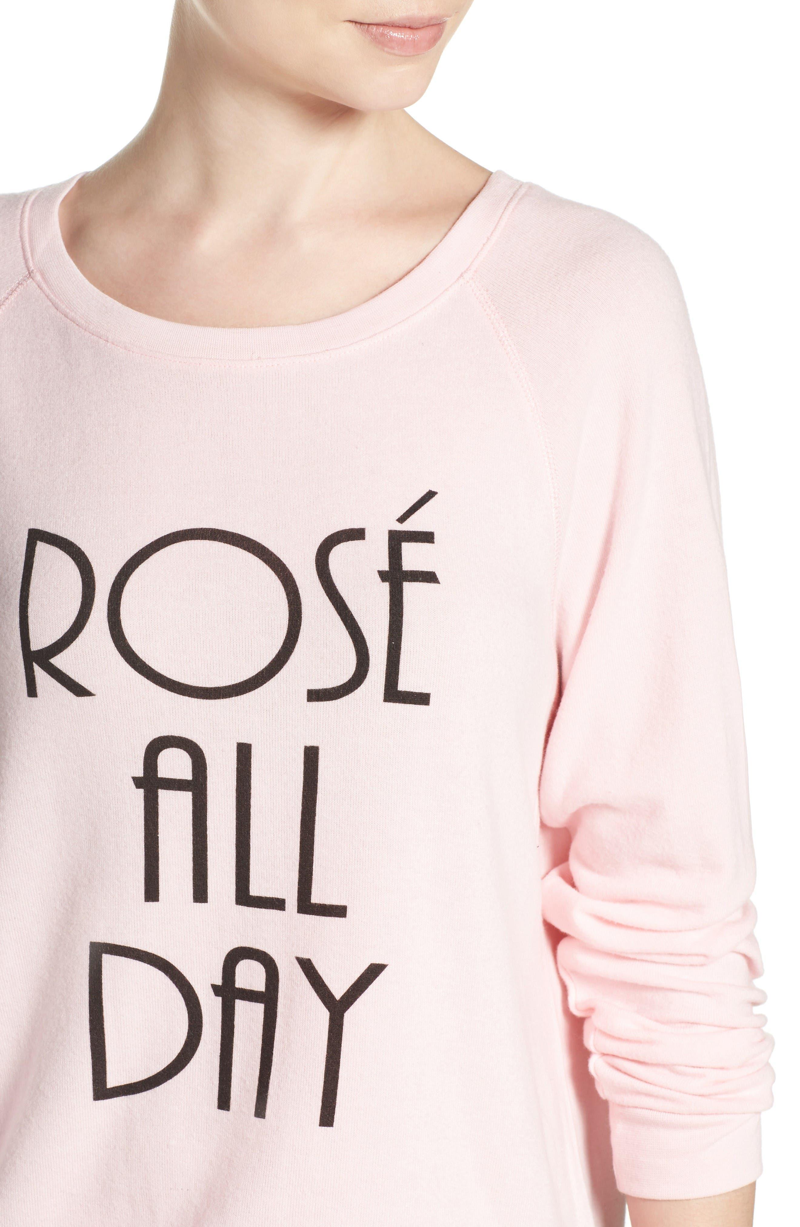 Alternate Image 4  - PJ Salvage Rosé All Day Sweatshirt