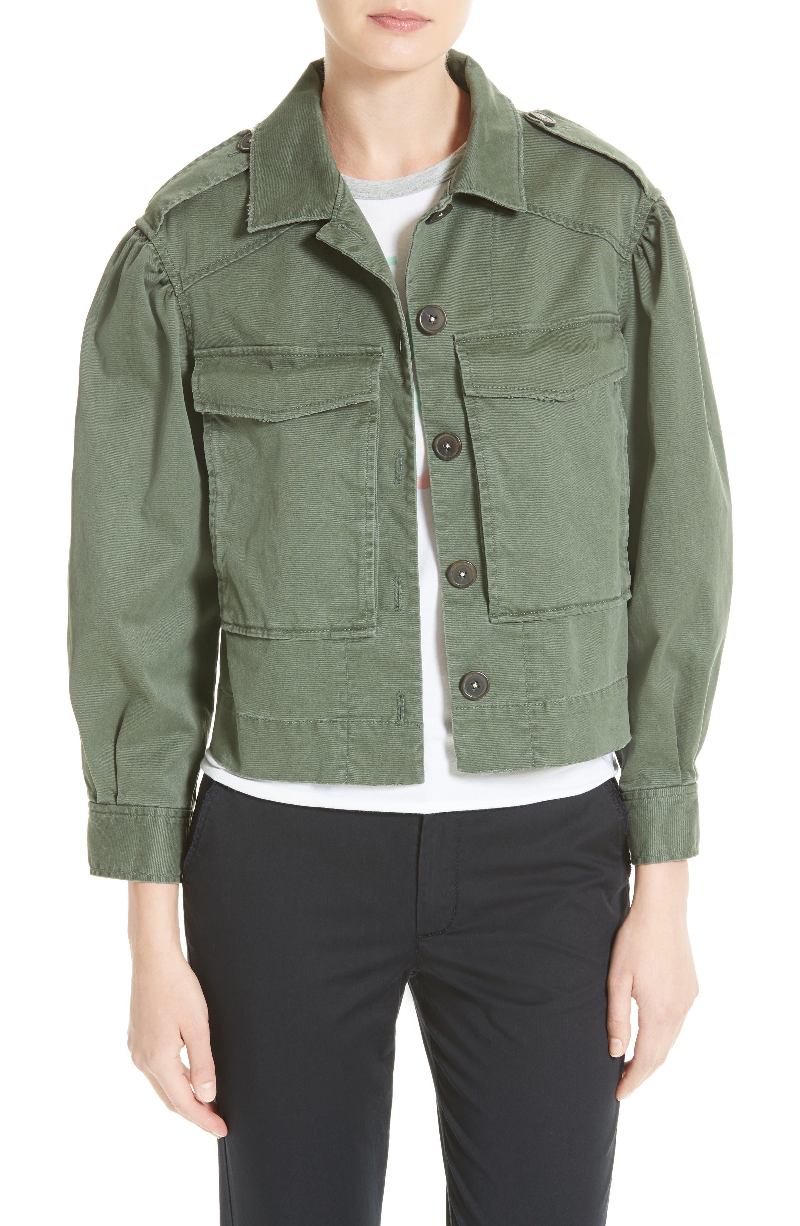 Main Image - La Vie Rebecca Taylor Crop Utility Jacket