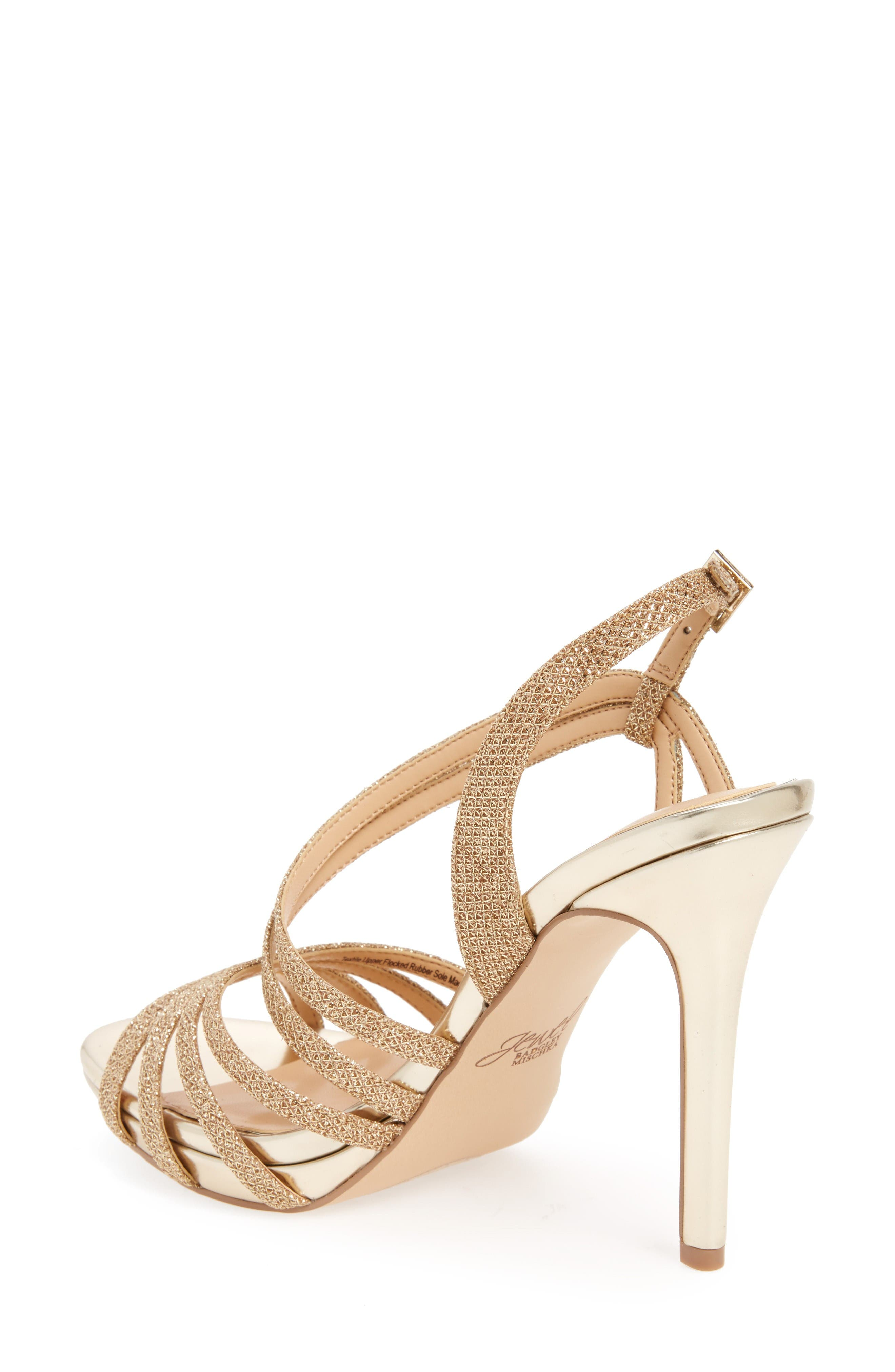 Humble Strappy Sandal,                             Alternate thumbnail 2, color,                             Gold Glitter Fabric
