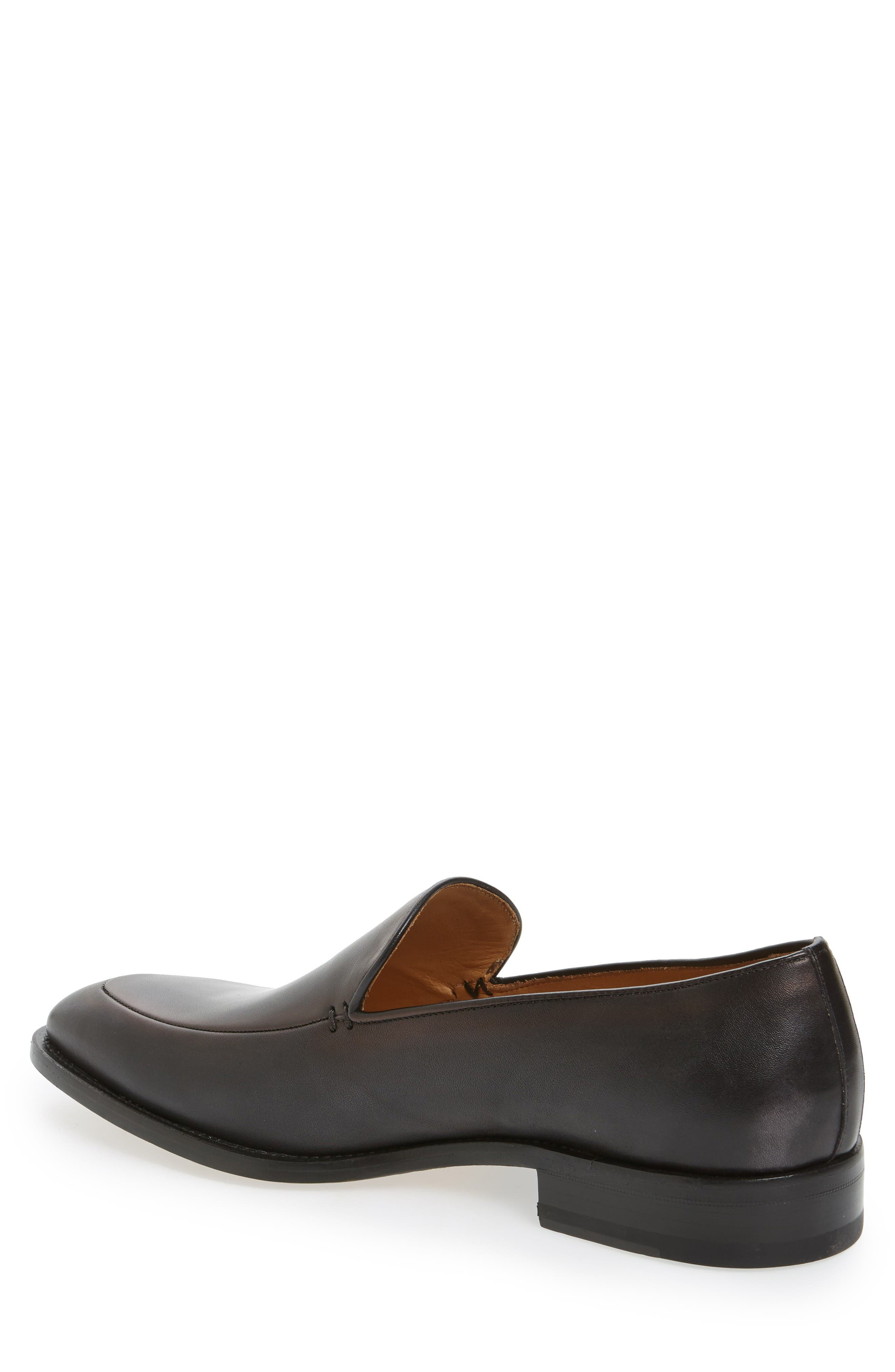 Strauss Venetian Loafer,                             Alternate thumbnail 2, color,                             Graphite Leather