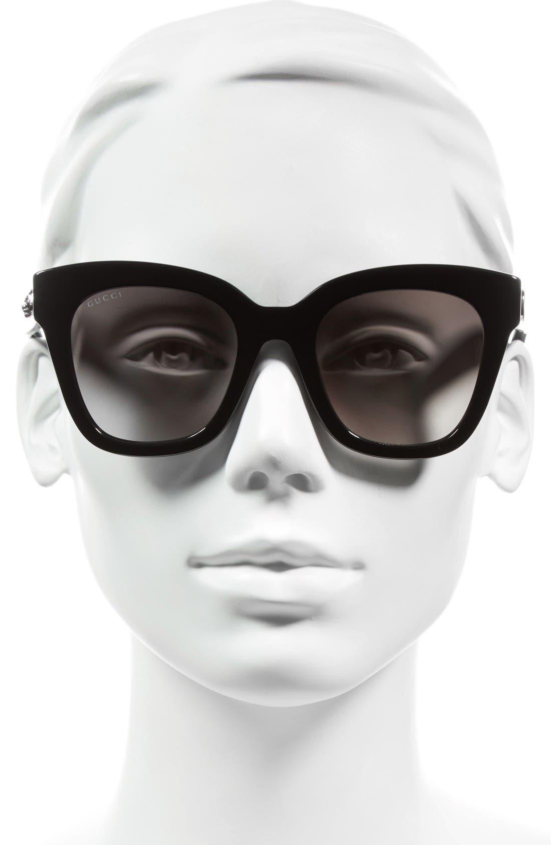 Alternate Image 2  - Gucci 50mm Cat Eye Sunglasses