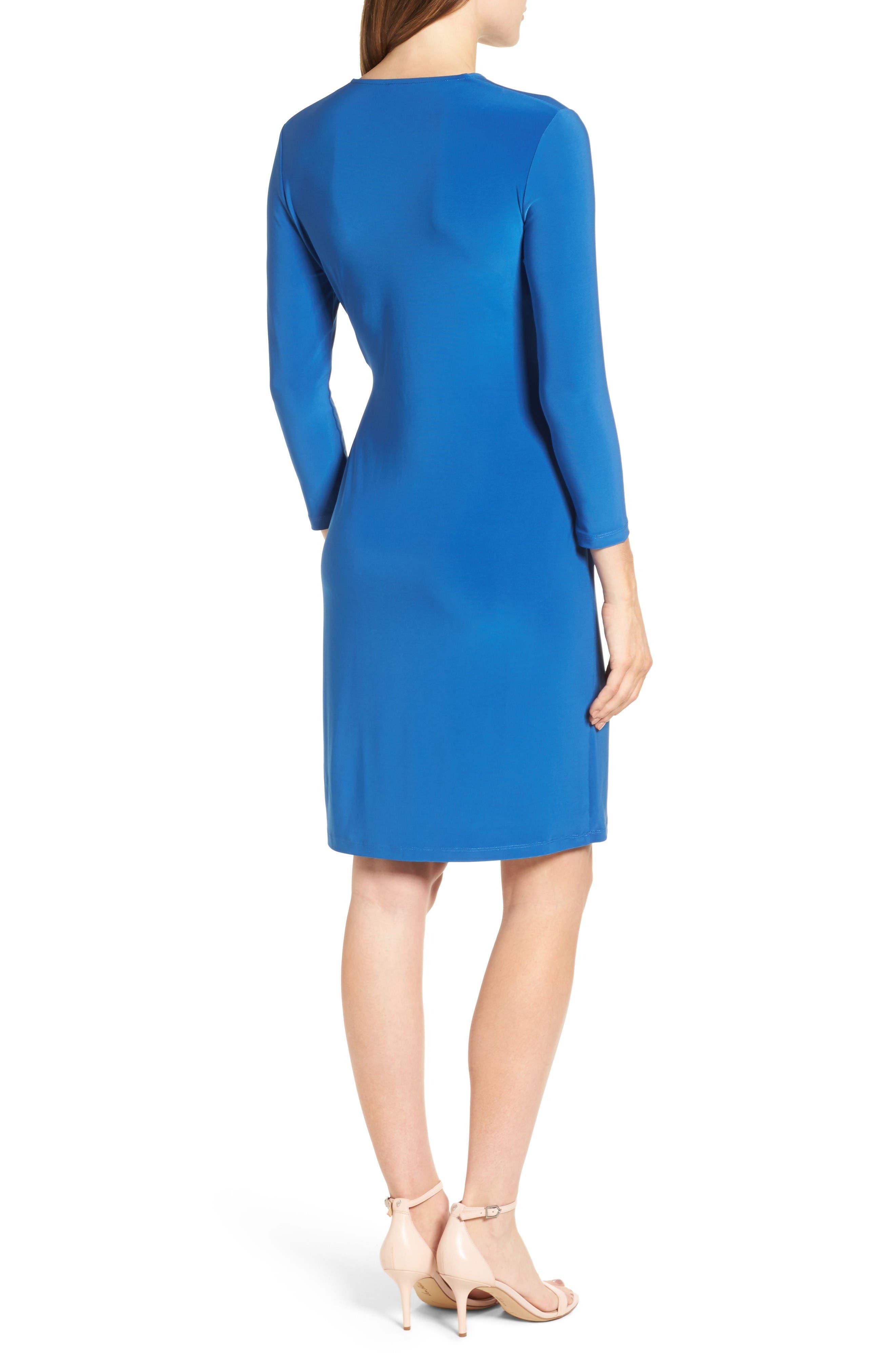 Alternate Image 2  - Anne Klein Stretch Jersey Faux Wrap Dress