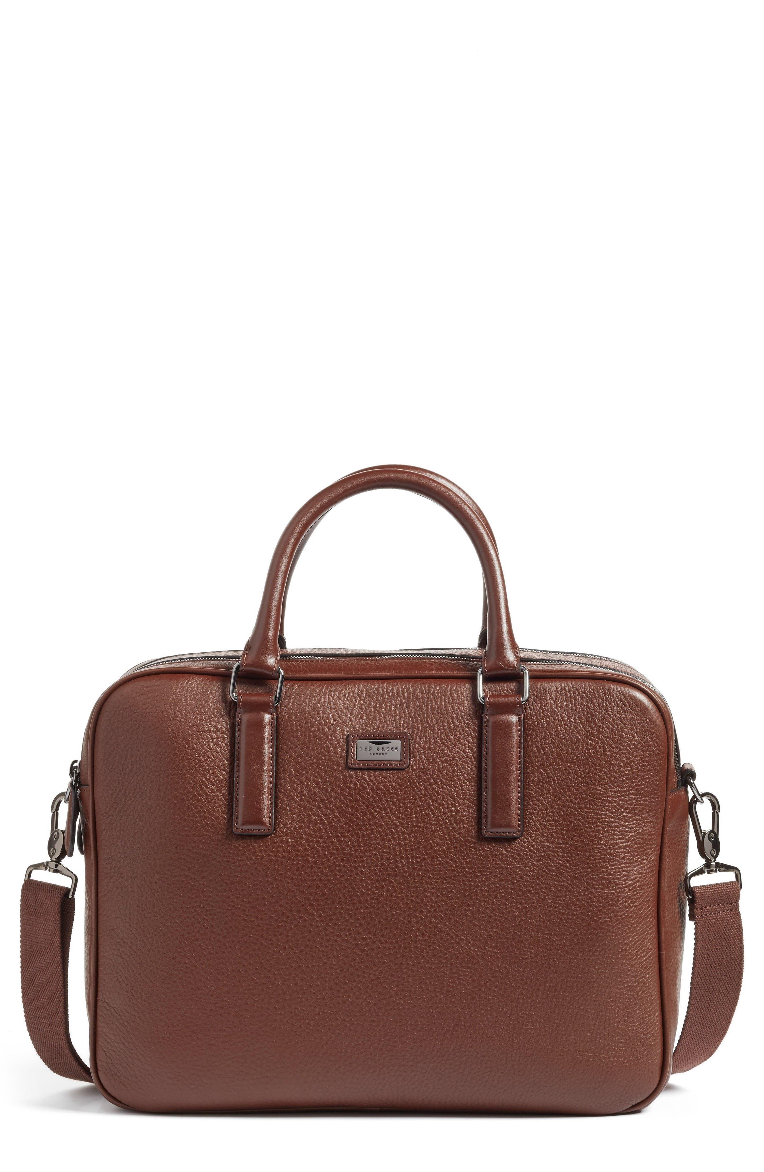 Alternate Image 1 Selected - Ted Baker London Leather Document Bag