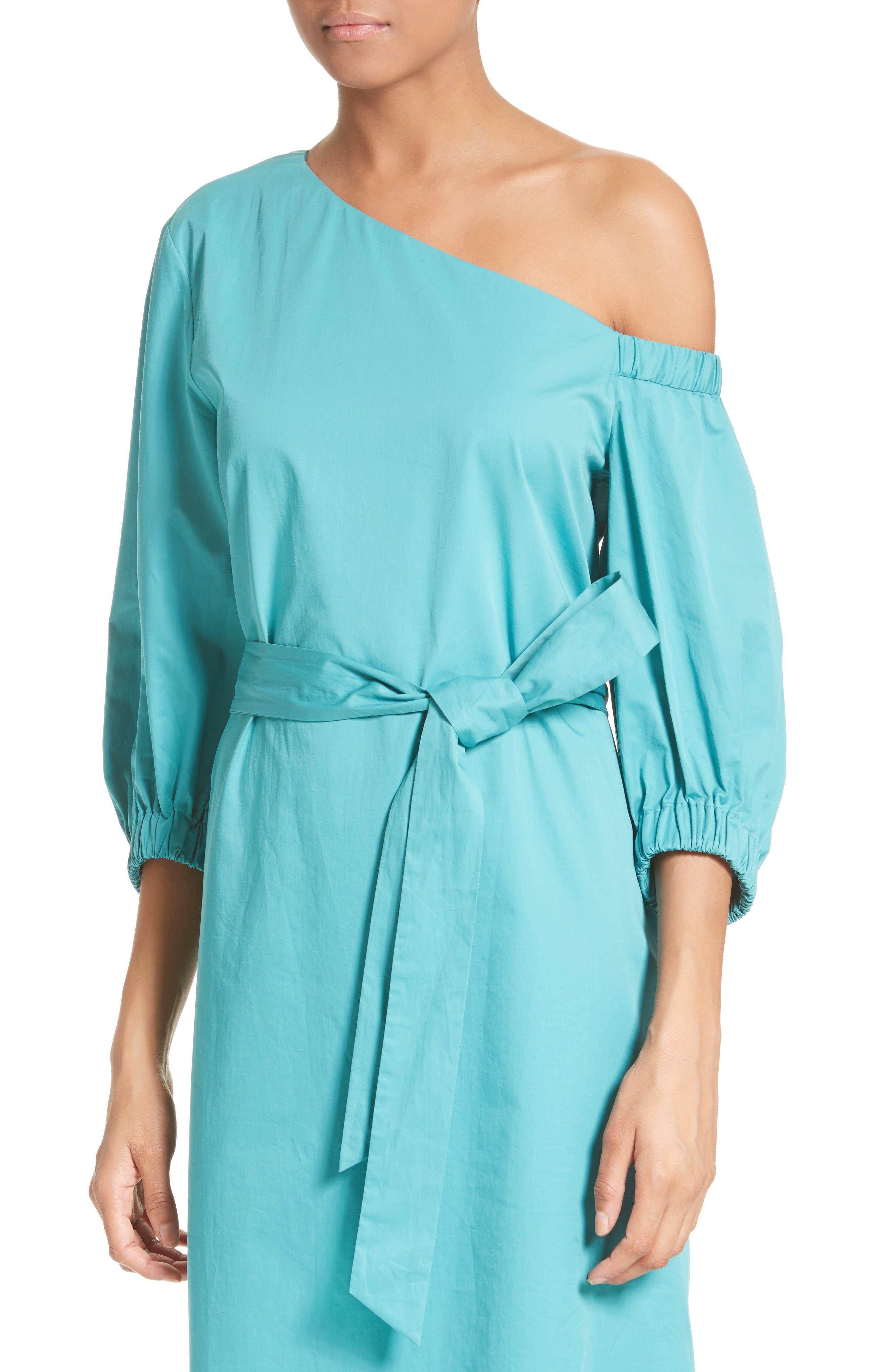 Alternate Image 4  - Tibi Cotton One-Shoulder Dress
