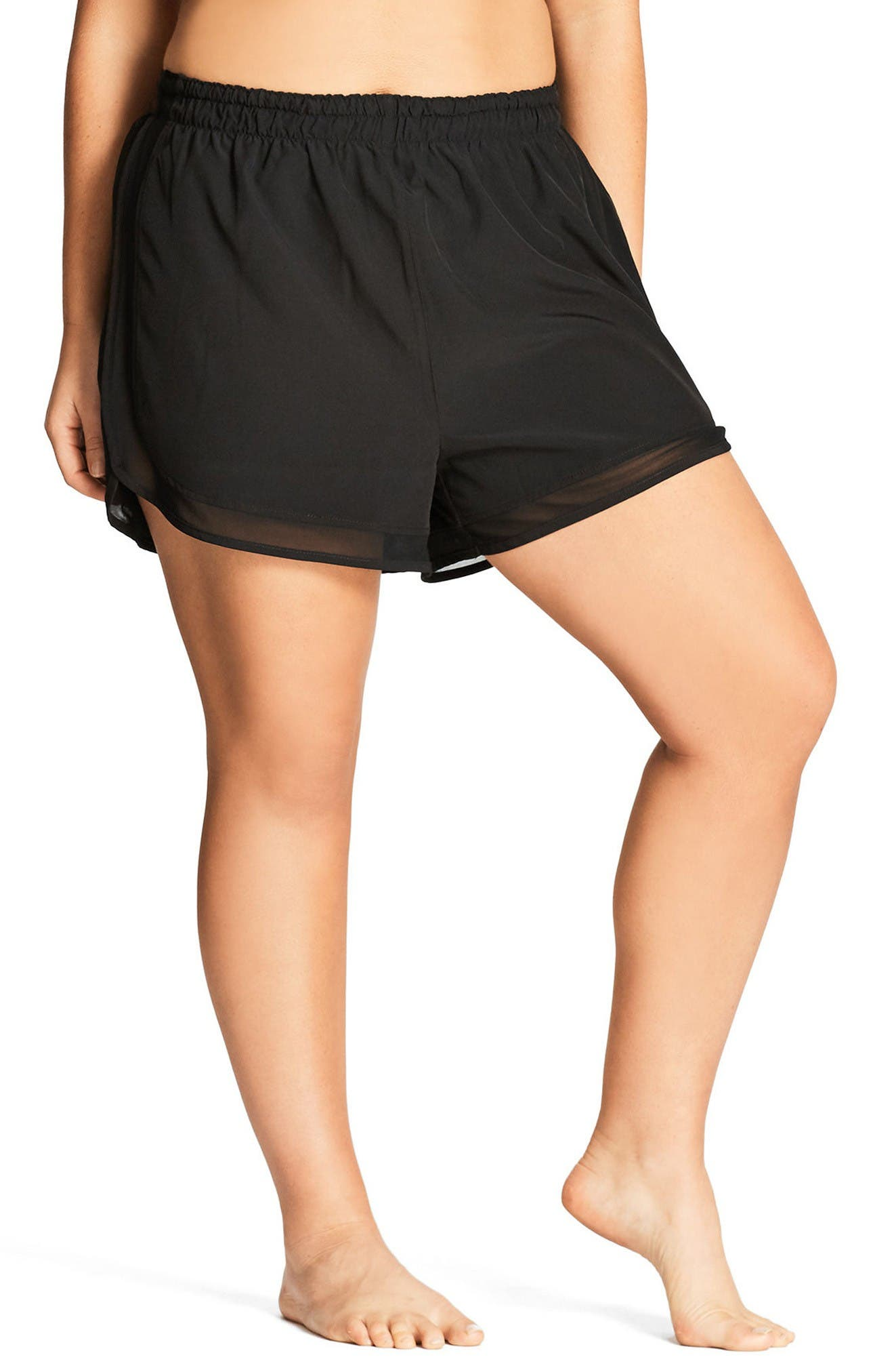City Chic Mesh Boardie Shorts (Plus Size)