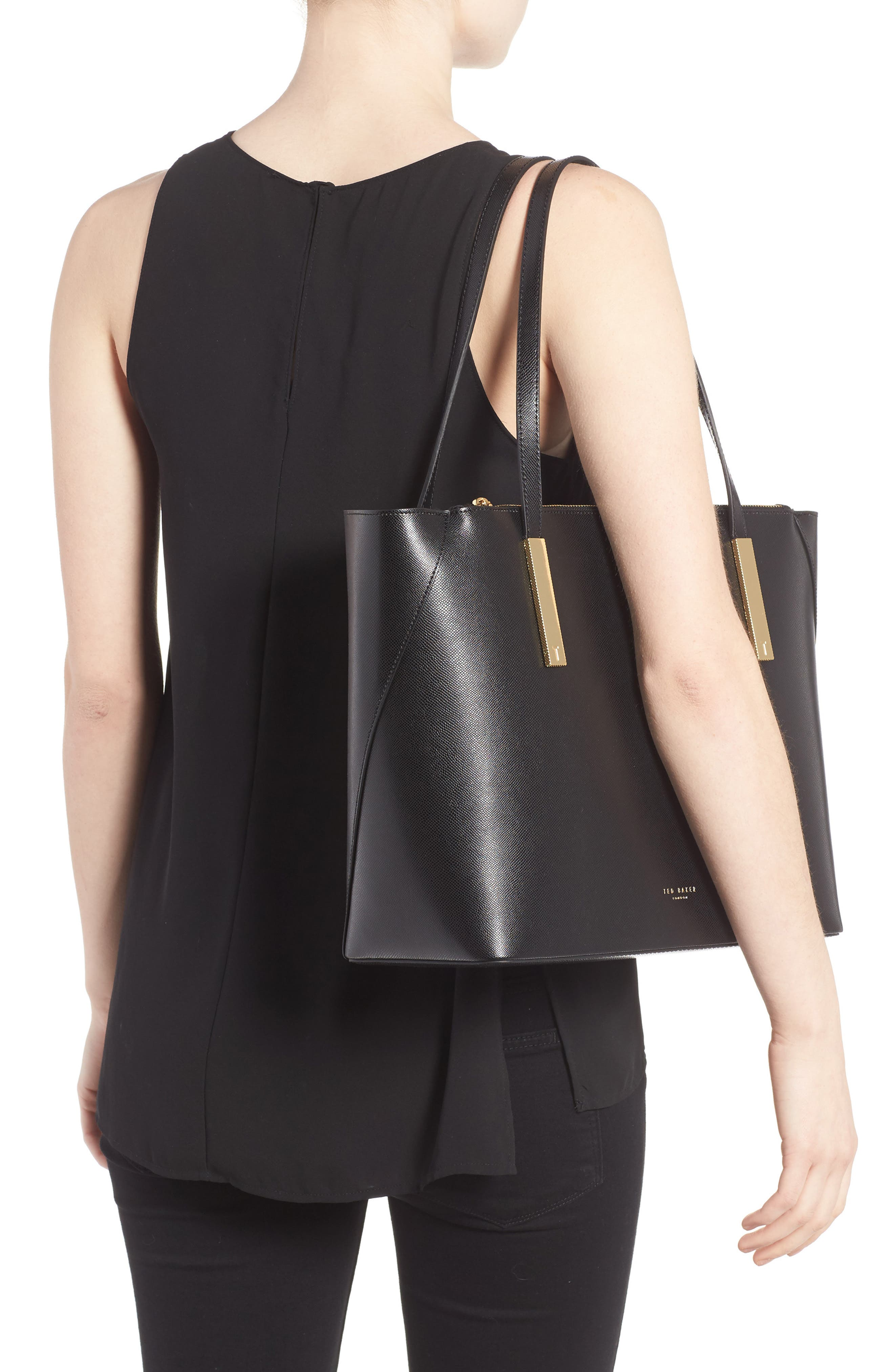 Alternate Image 2  - Ted Baker London Mini Leather Shopper