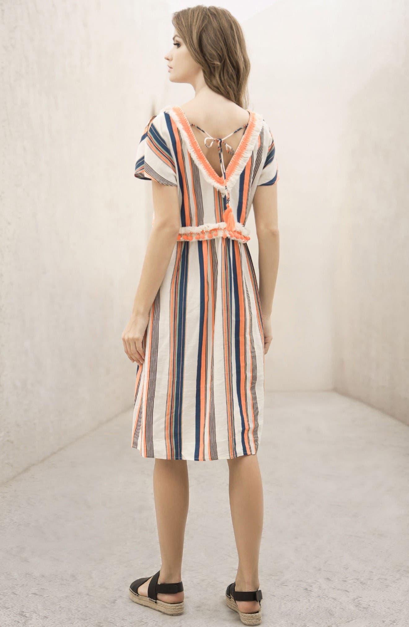 Alternate Image 6  - MOON RIVER Stripe Linen & Cotton Dress
