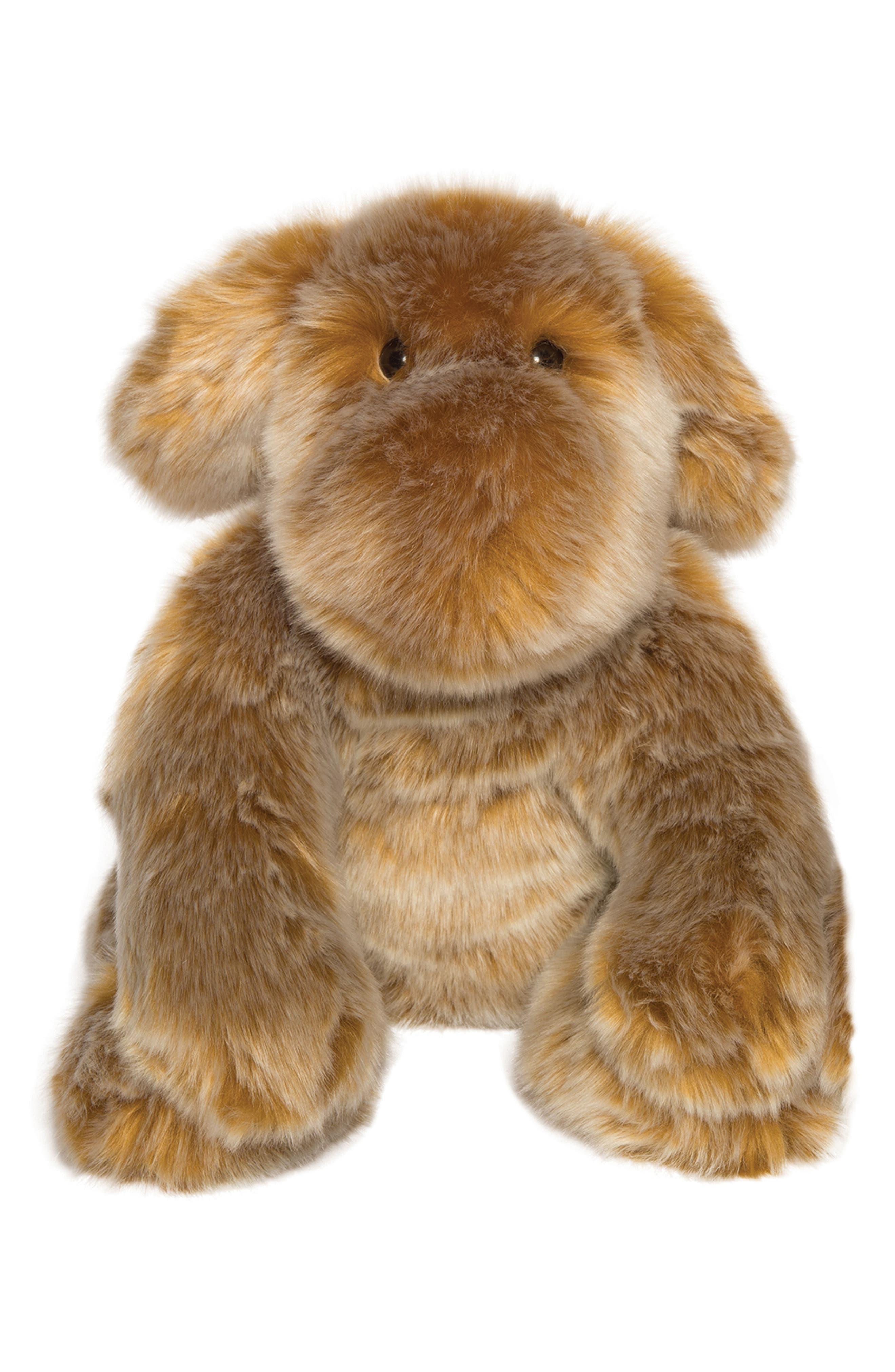 Luxe Saffron Dog Stuffed Animal,                         Main,                         color, Brown