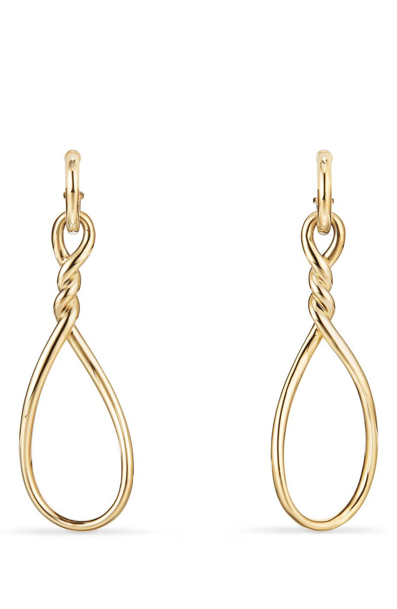 Continuance Drop Earrings,                             Main thumbnail 1, color,                             Yellow Gold