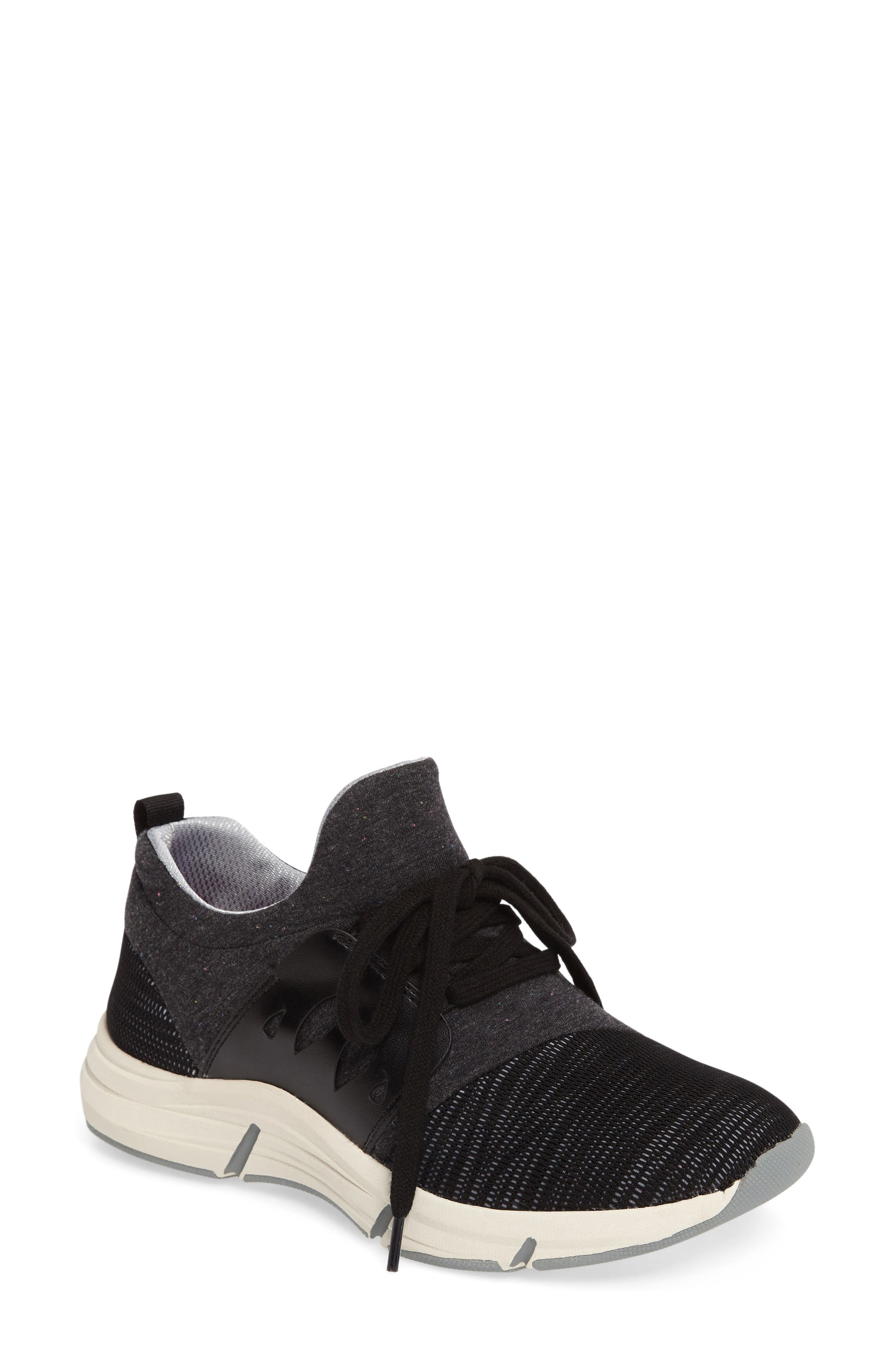Ordell Sneaker,                             Main thumbnail 1, color,                             Black Fabric