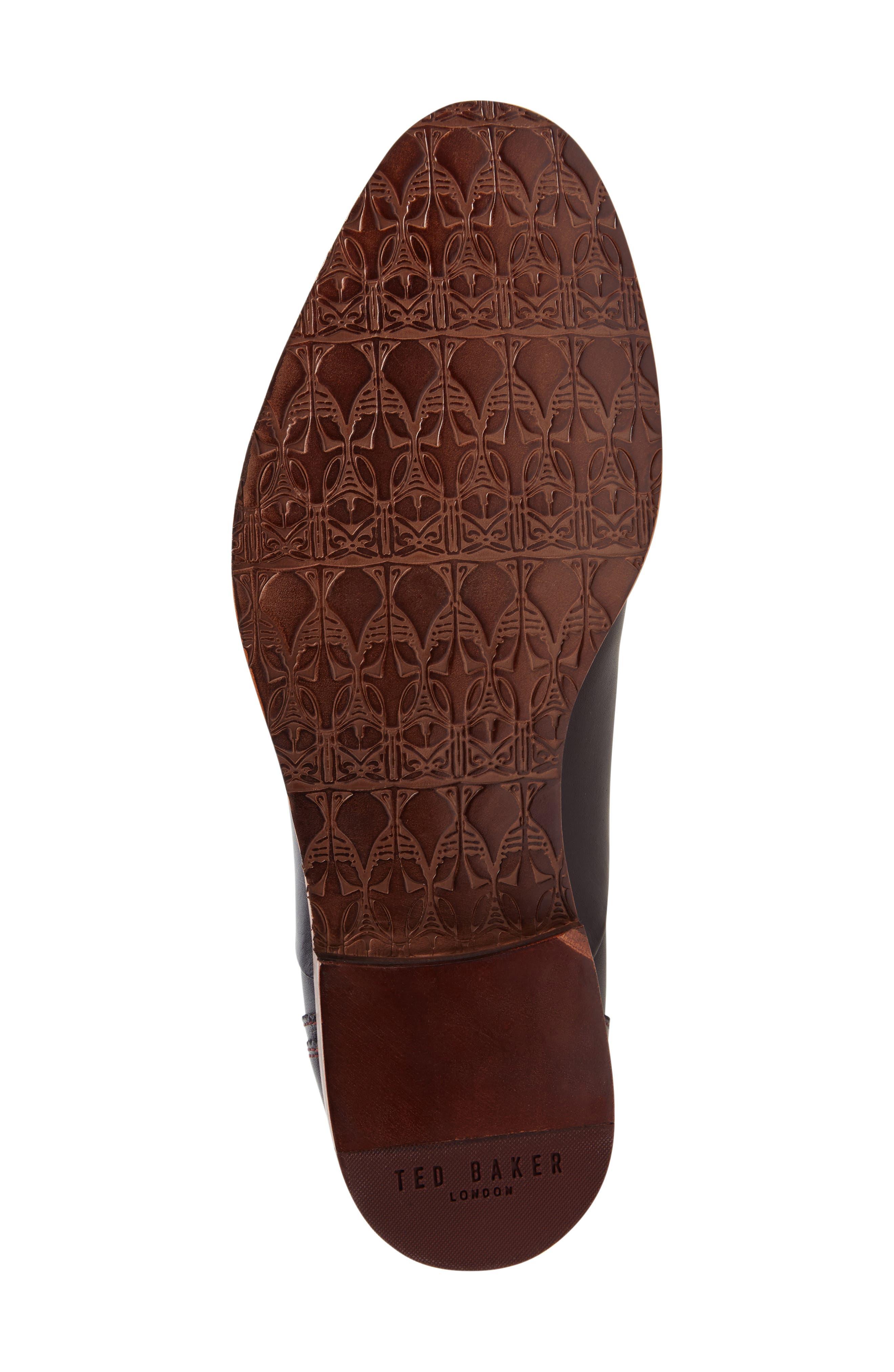 Iront Plain Toe Derby,                             Alternate thumbnail 4, color,                             Black Leather