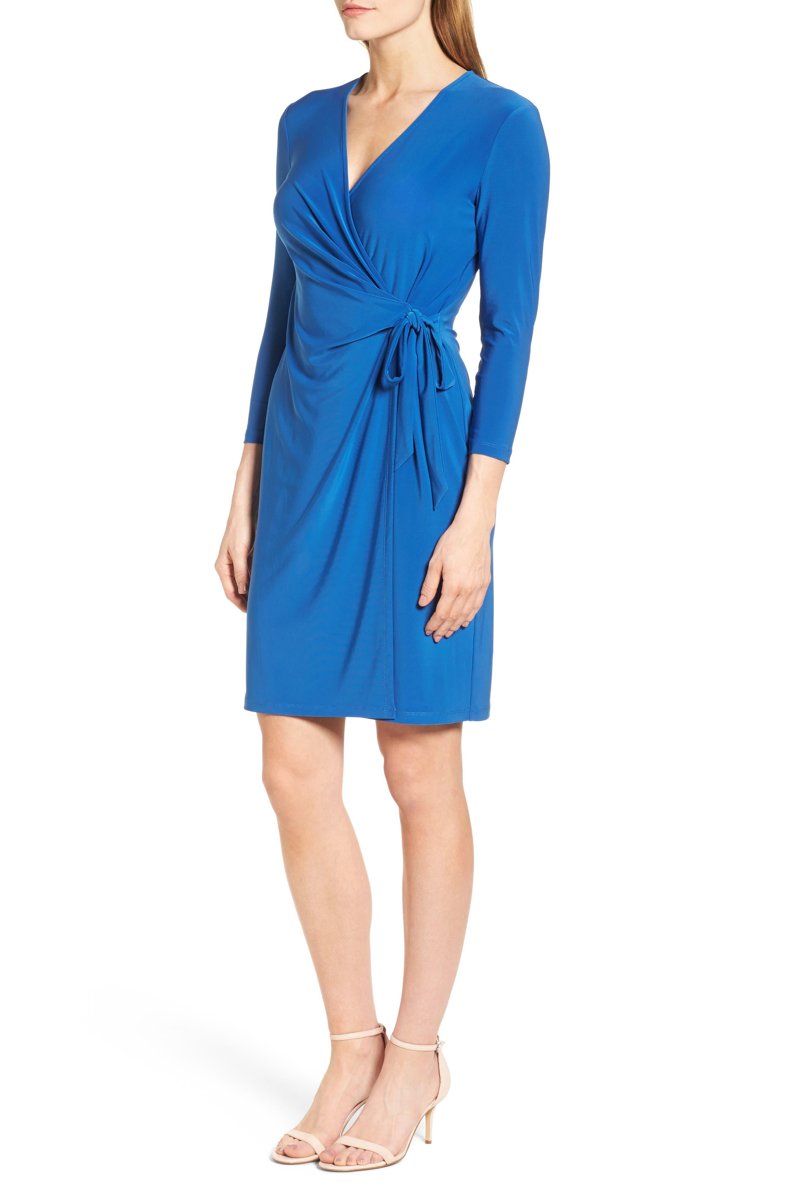 Alternate Image 3  - Anne Klein Stretch Jersey Faux Wrap Dress