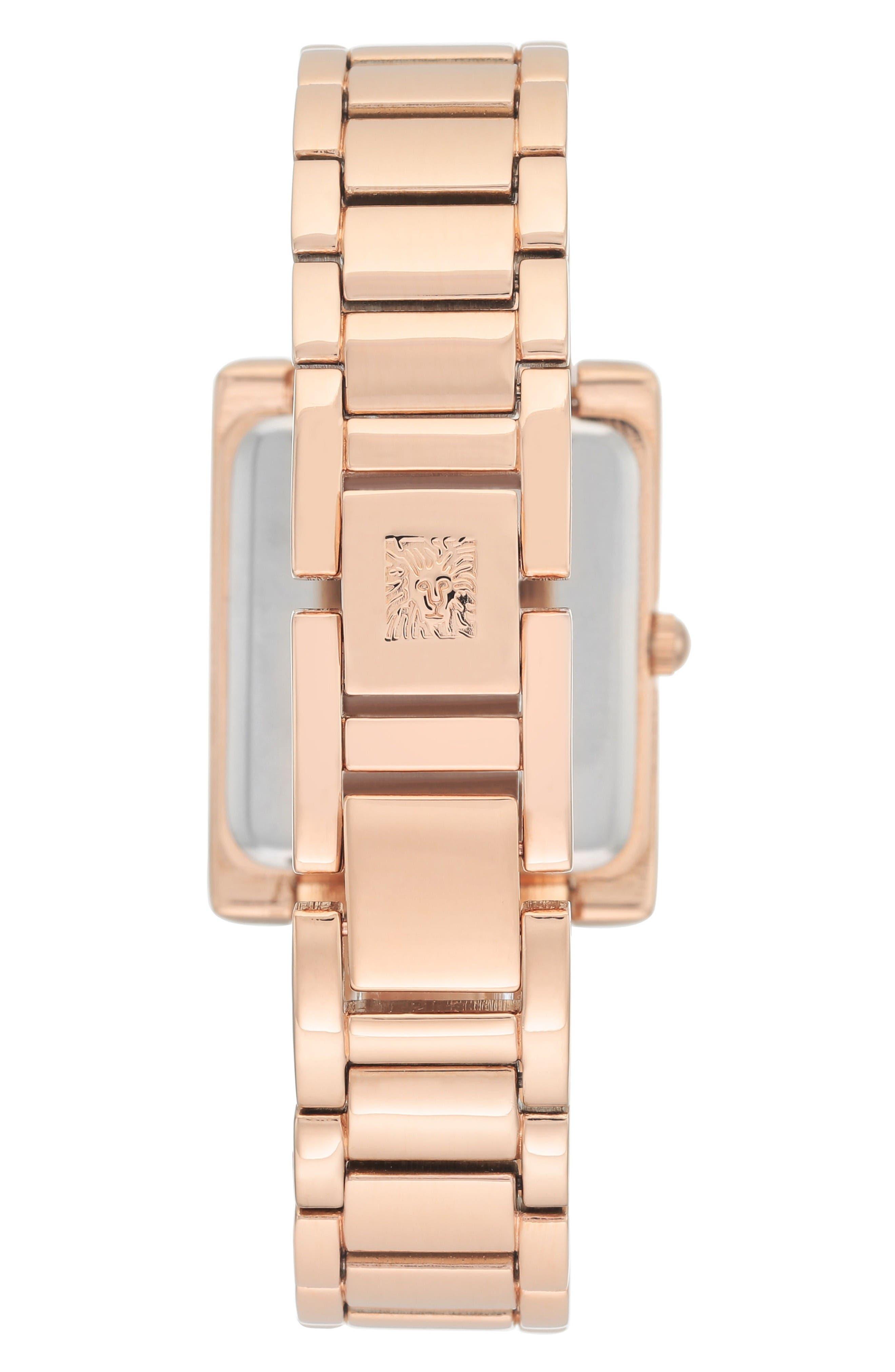 Alternate Image 2  - Anne Klein Diamond Bracelet Watch, 28mm x 35mm