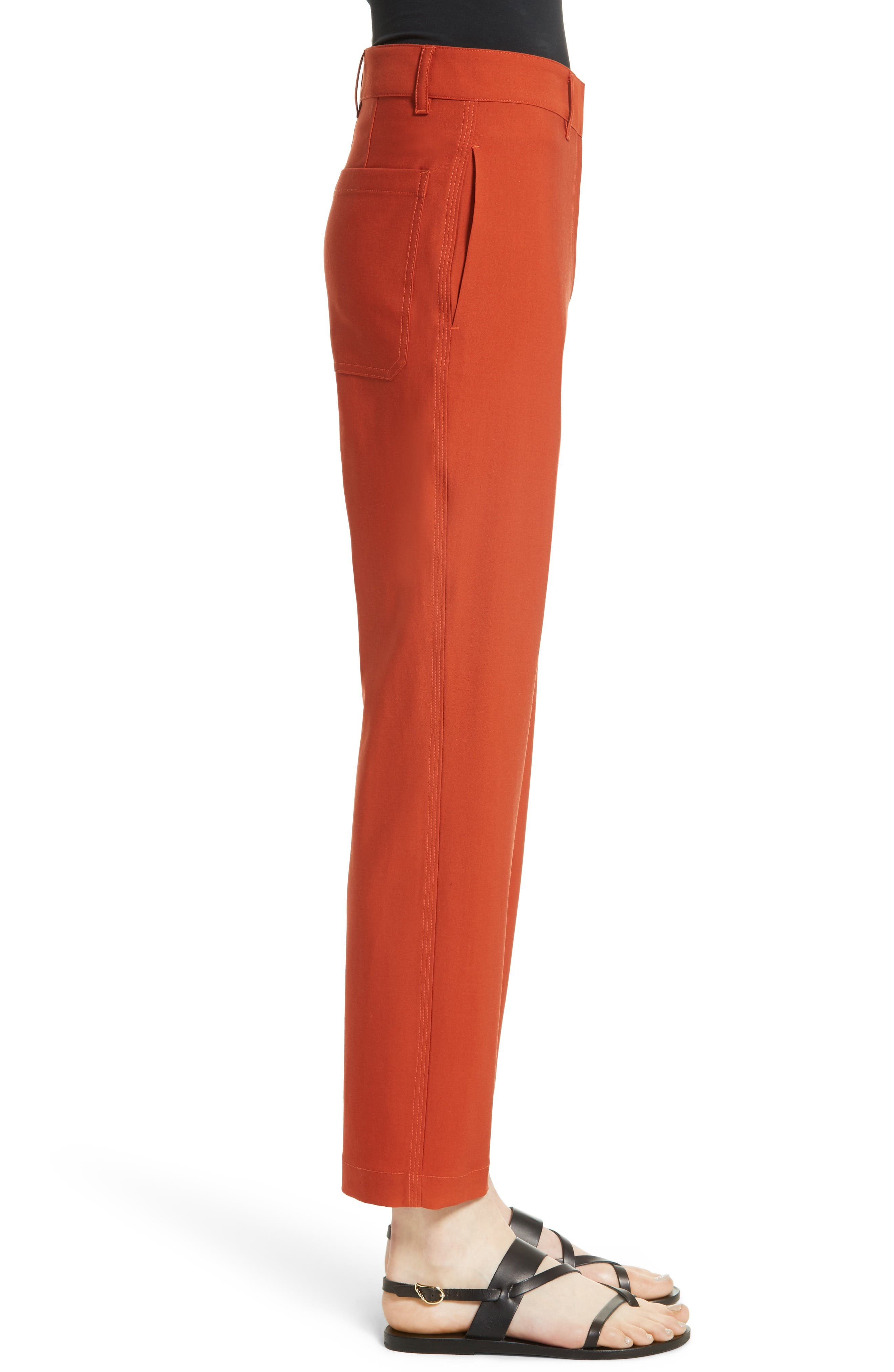 Thorelle B New Stretch Wool Pants,                             Alternate thumbnail 3, color,                             Dark Marmalade