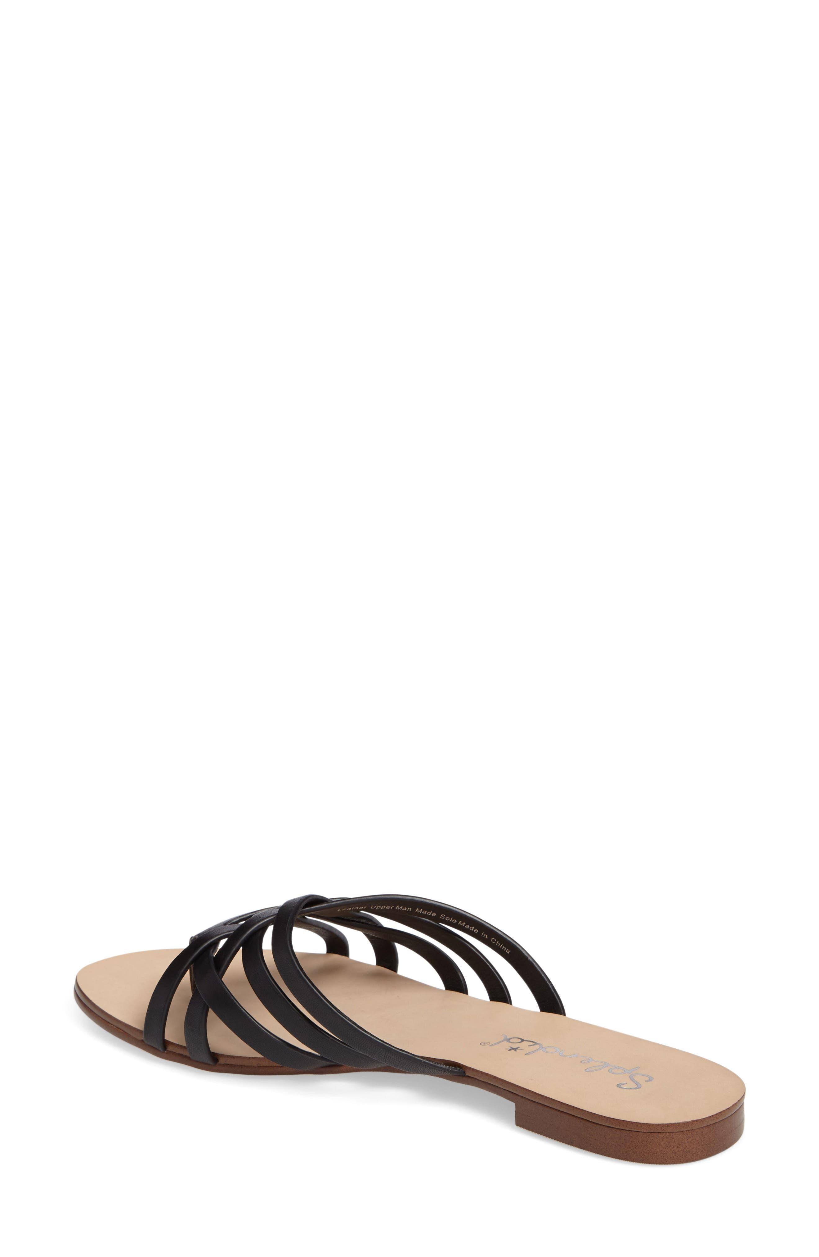 Jojo Slide Sandal,                             Alternate thumbnail 2, color,                             Black Leather