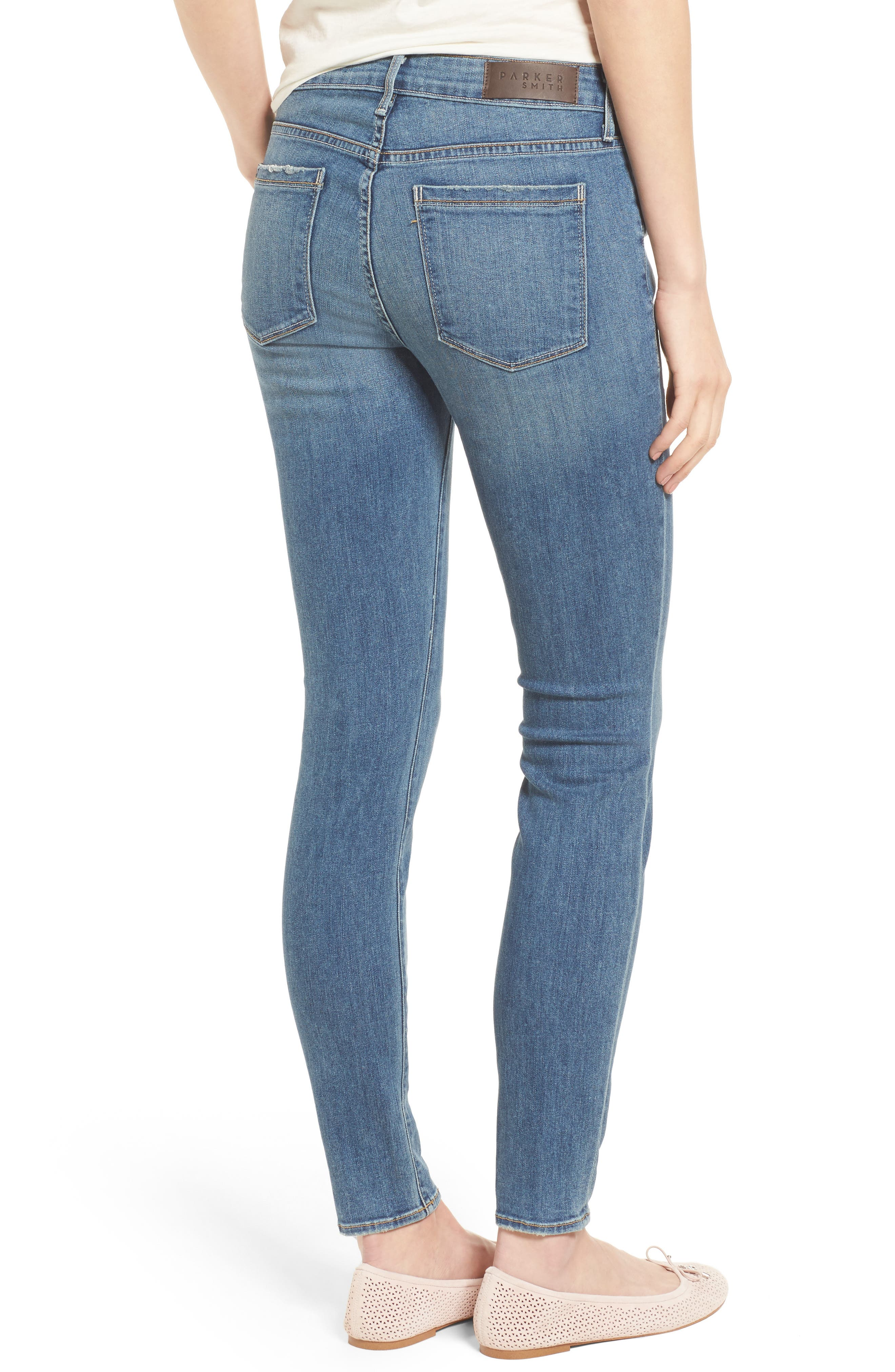 Ava Stretch Skinny Jeans,                             Alternate thumbnail 2, color,                             Liverpool