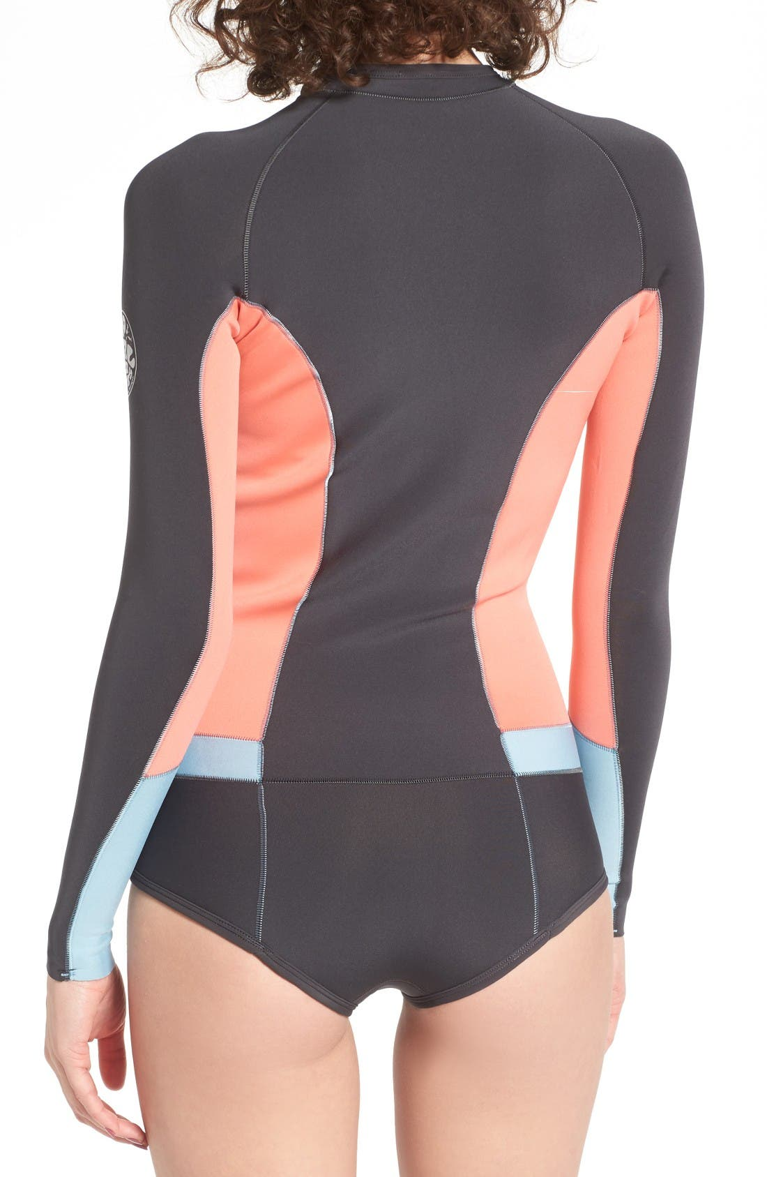 G-Bomb Long Sleeve Wetsuit,                             Alternate thumbnail 2, color,                             Coral