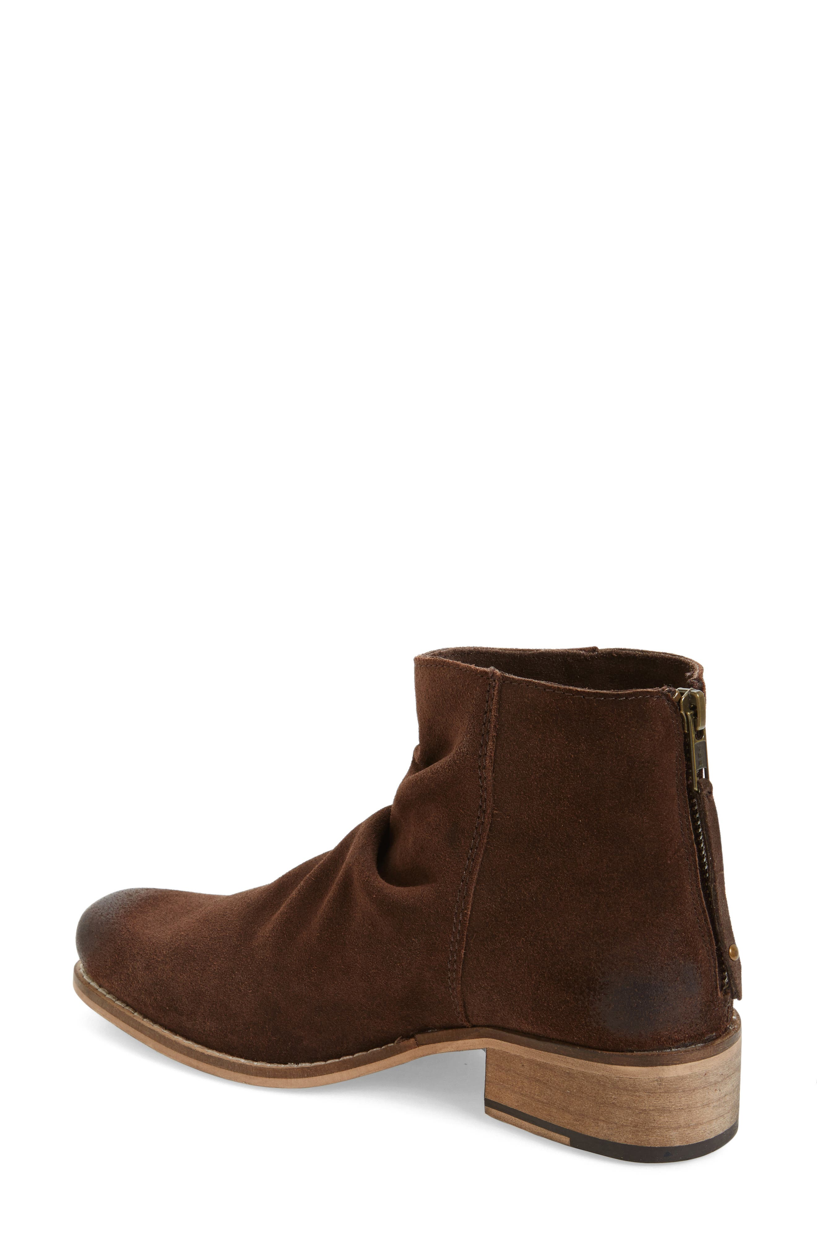 Unbridled Sloan Slouchy Bootie,                             Alternate thumbnail 2, color,                             Dark Brown Leather