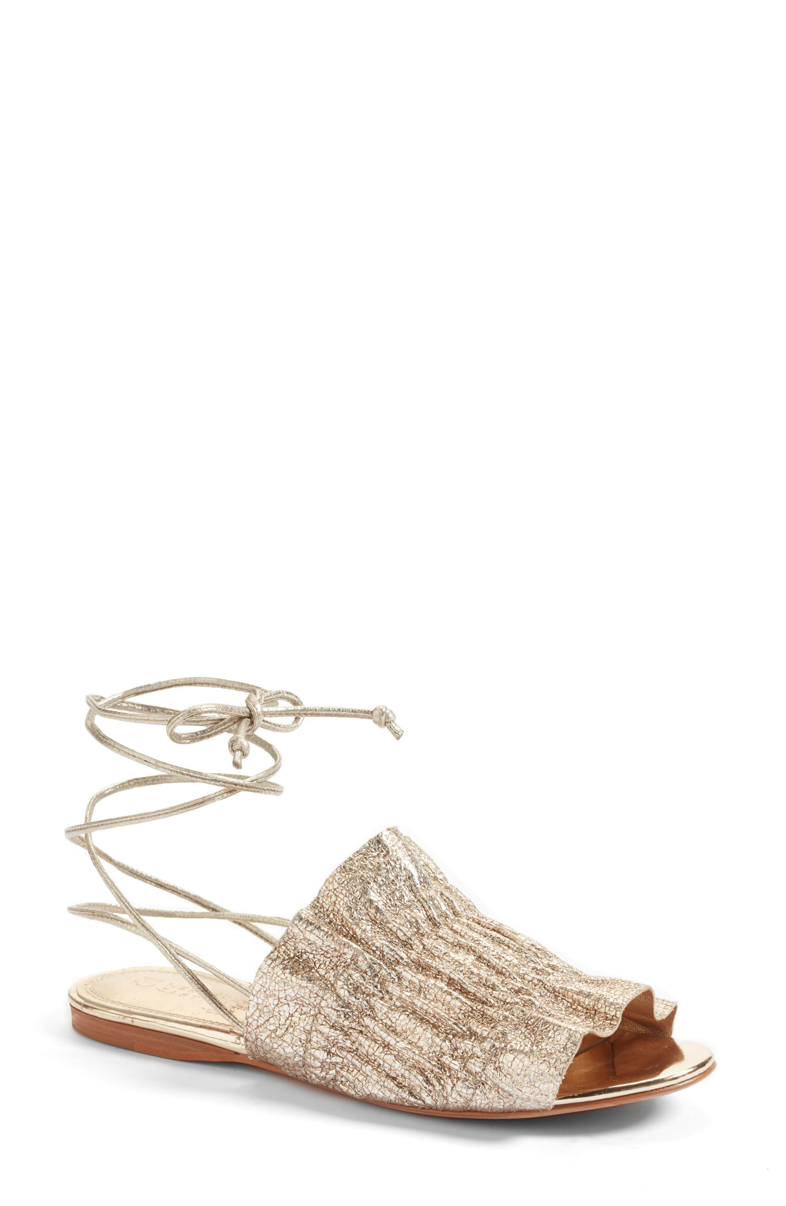 Alesandra Sandal,                         Main,                         color, Platino Leather