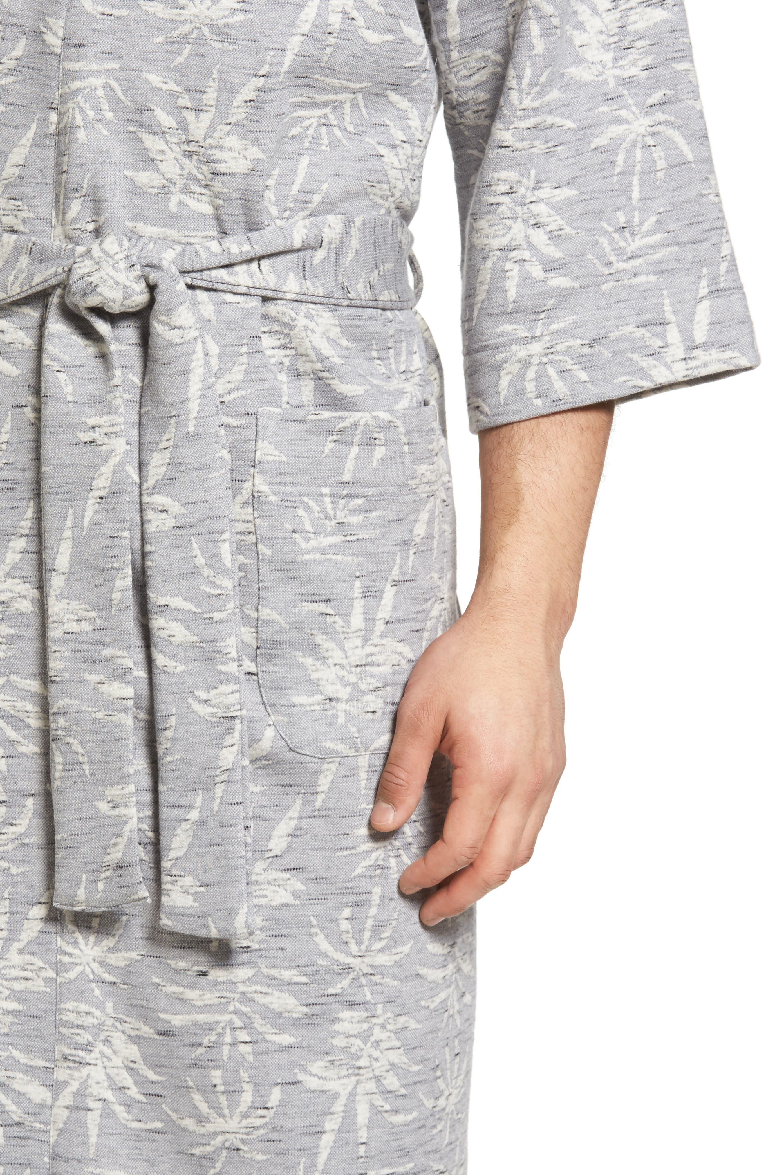 Vintage Tropical Robe,                             Alternate thumbnail 4, color,                             Grey