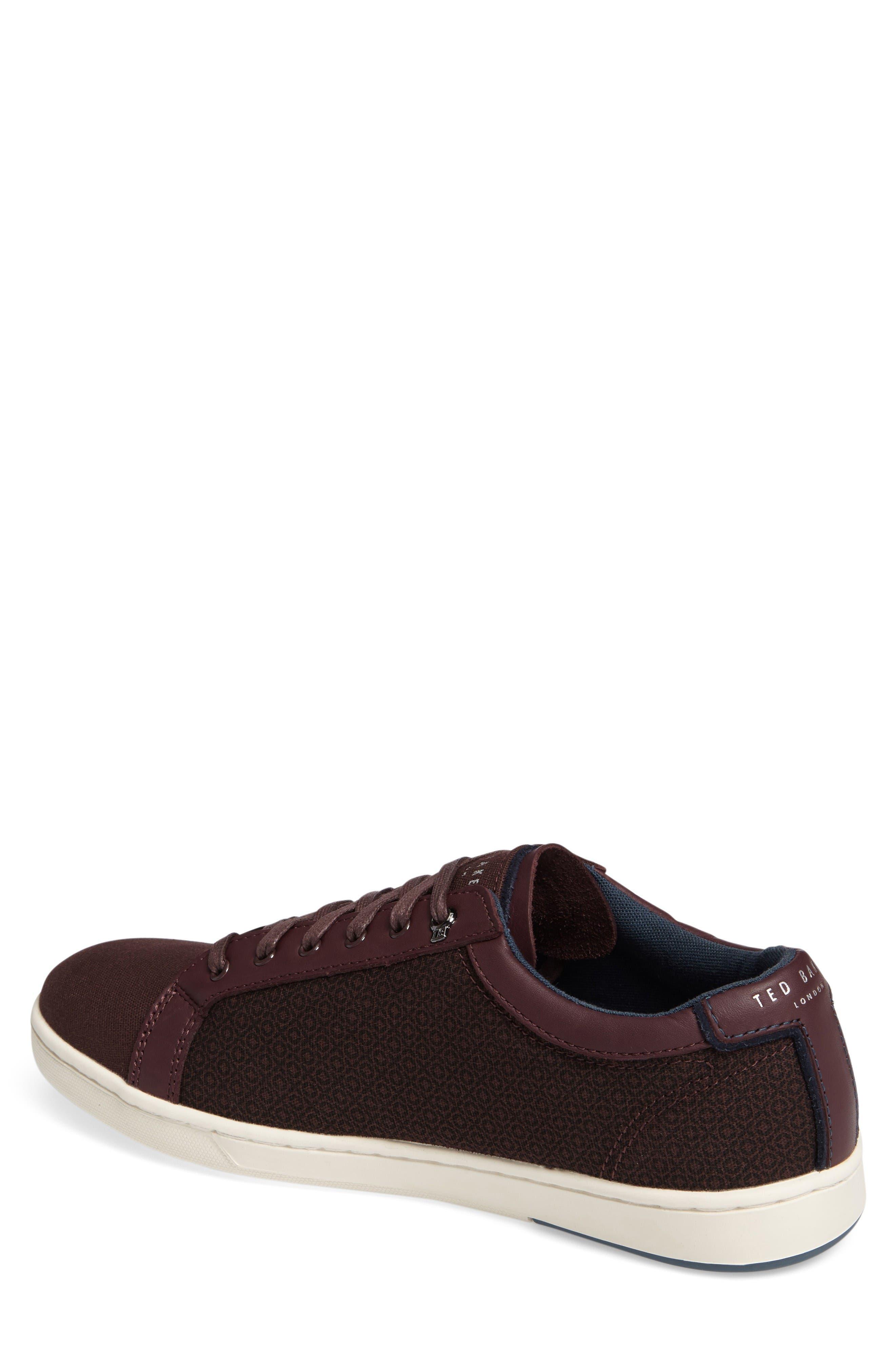 Ternur Geo Print Sneaker,                             Alternate thumbnail 2, color,                             Dark Red
