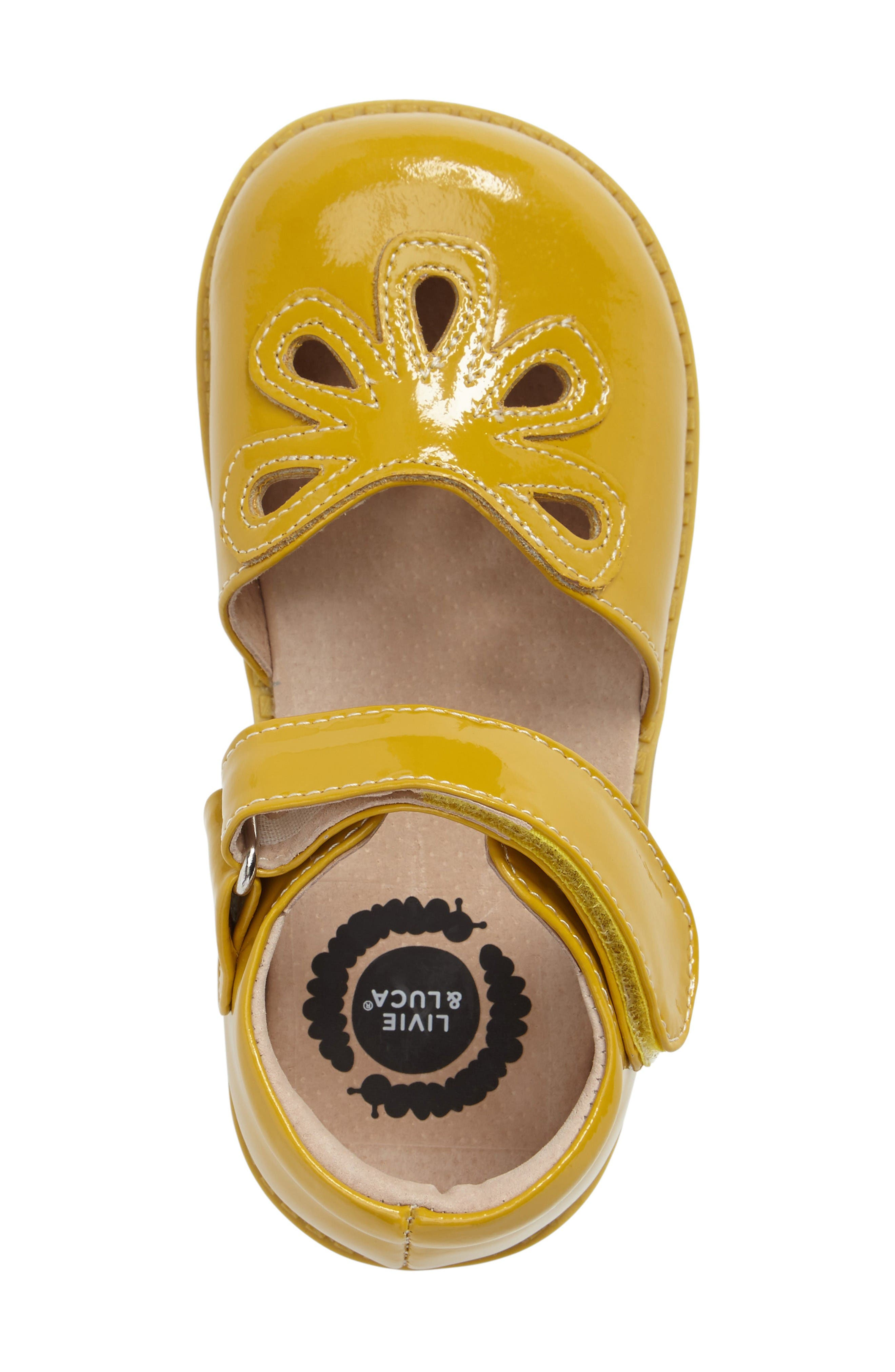 'Petal' Mary Jane,                             Alternate thumbnail 3, color,                             Yellow Leather