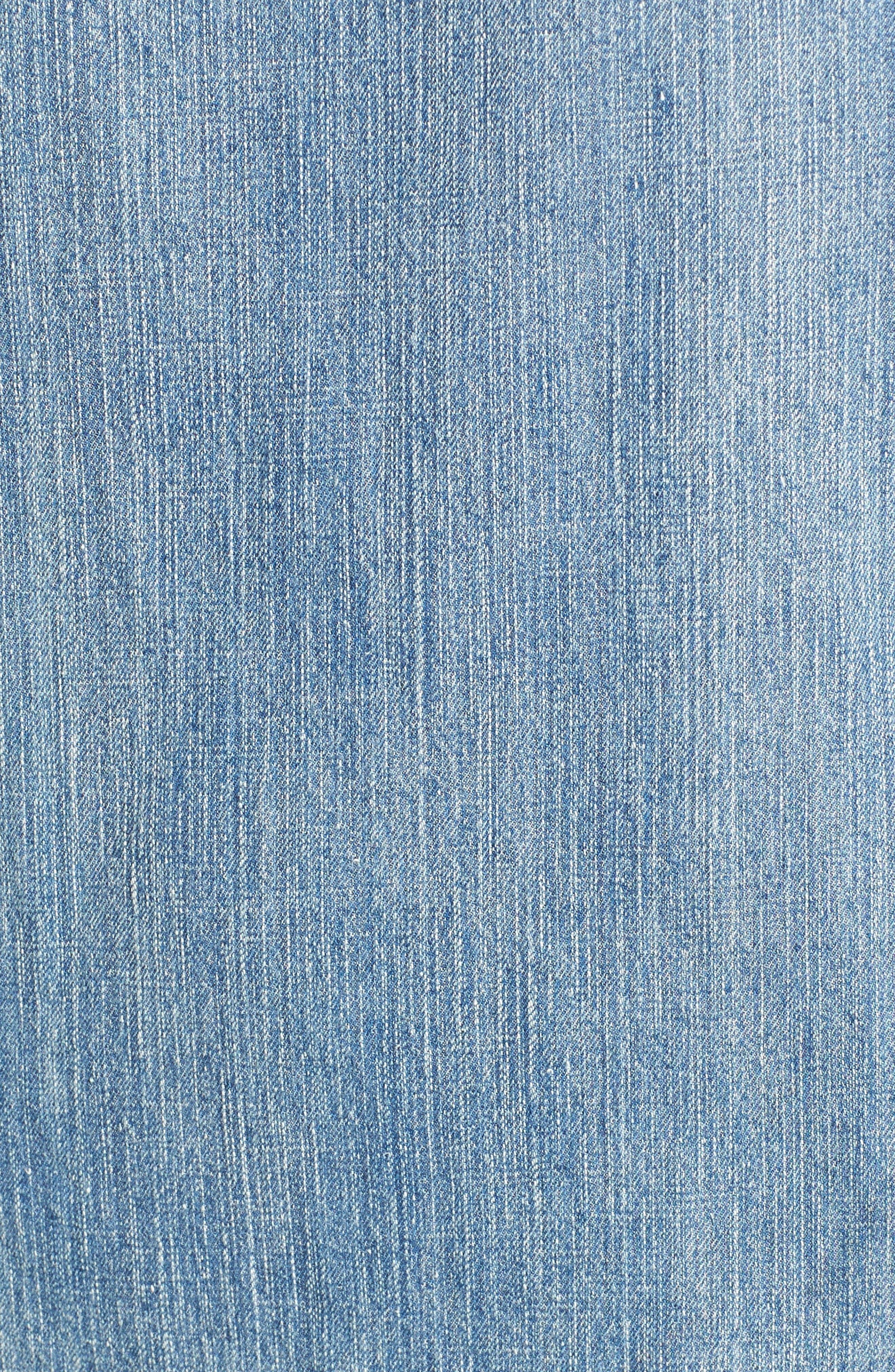 Alternate Image 5  - BILLY T Slit Sleeve Denim Dress