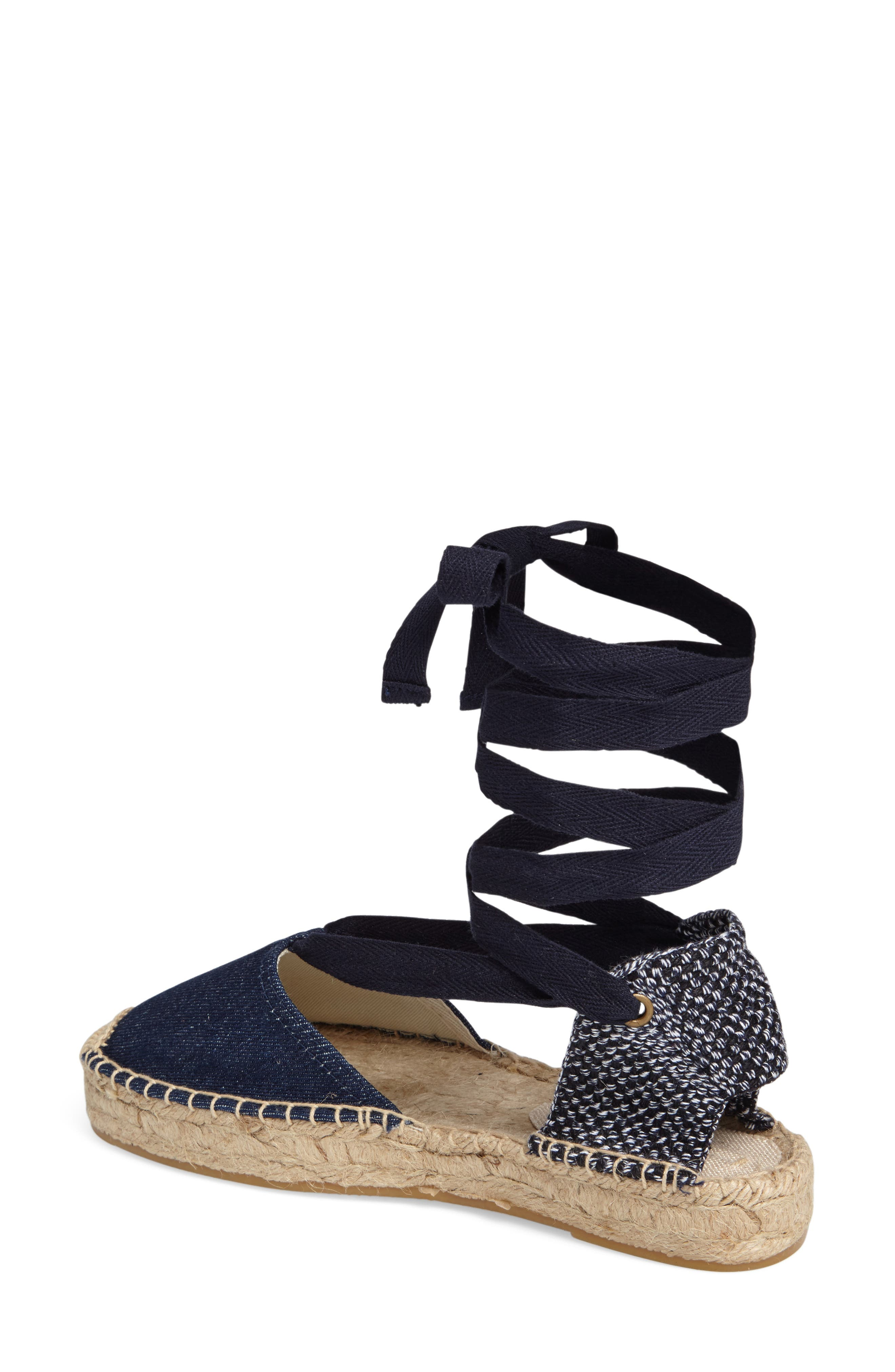 Gladiator Platform Espadrille,                             Alternate thumbnail 2, color,                             Dark Denim