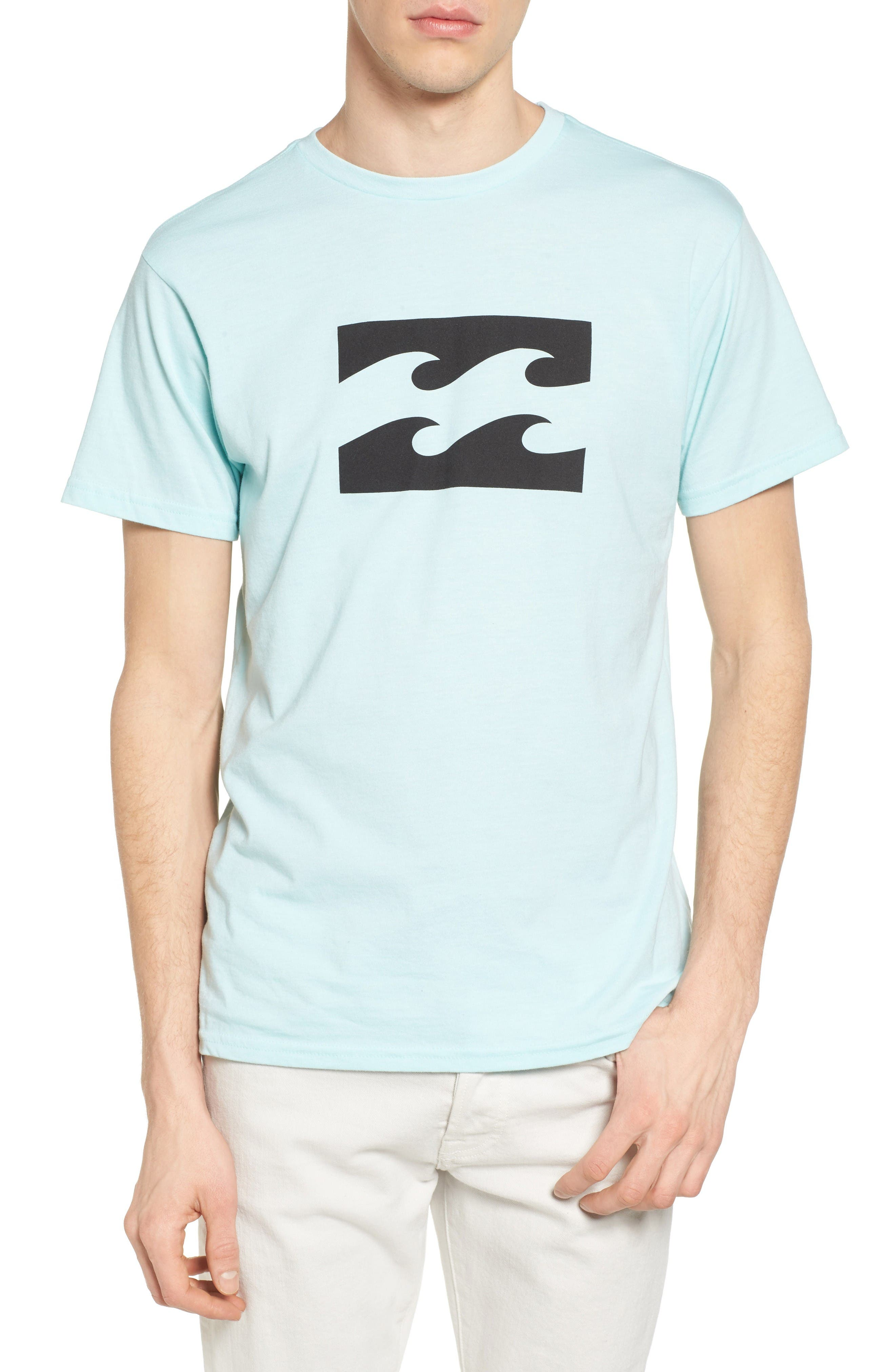 Wave Graphic T-Shirt,                             Main thumbnail 1, color,                             Ice Heather